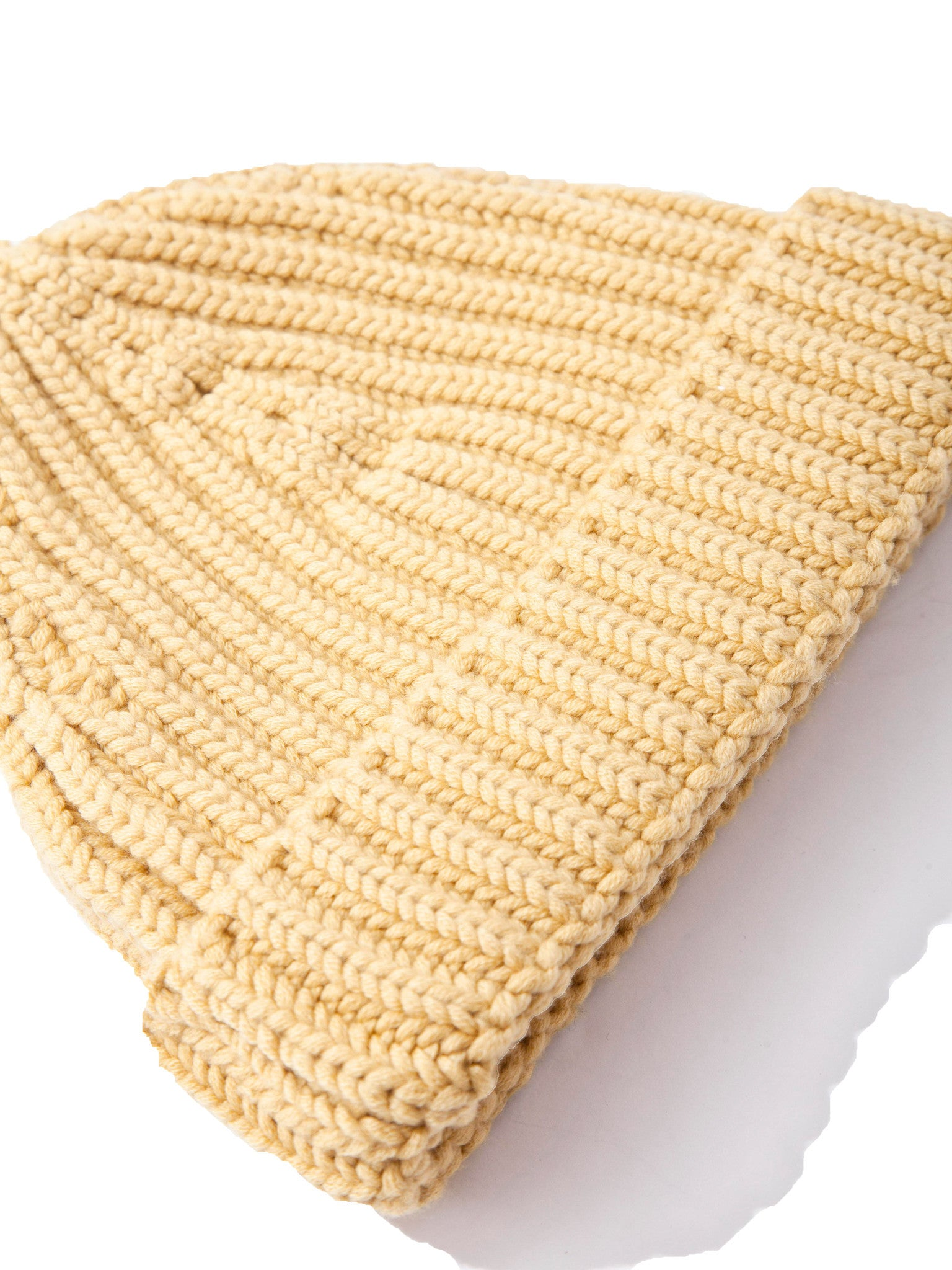 Military Green Five Gauge Ribbed Beanie 7