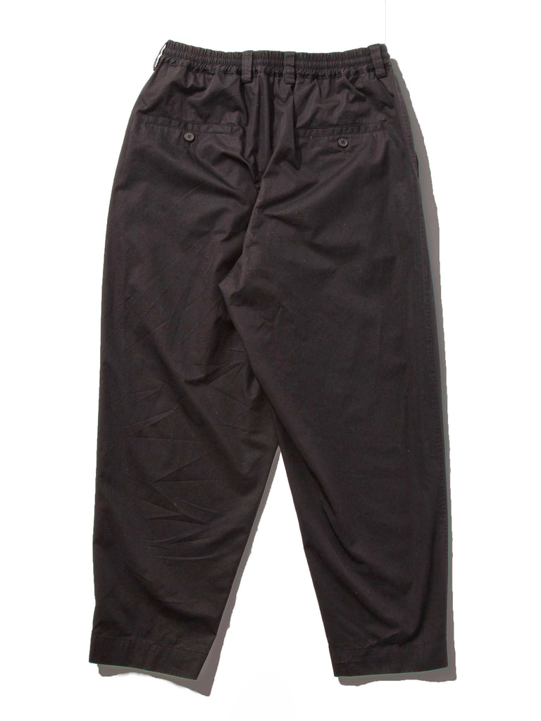 Black Light Washed Cotton Twill Drawstring Trouser 518407832329