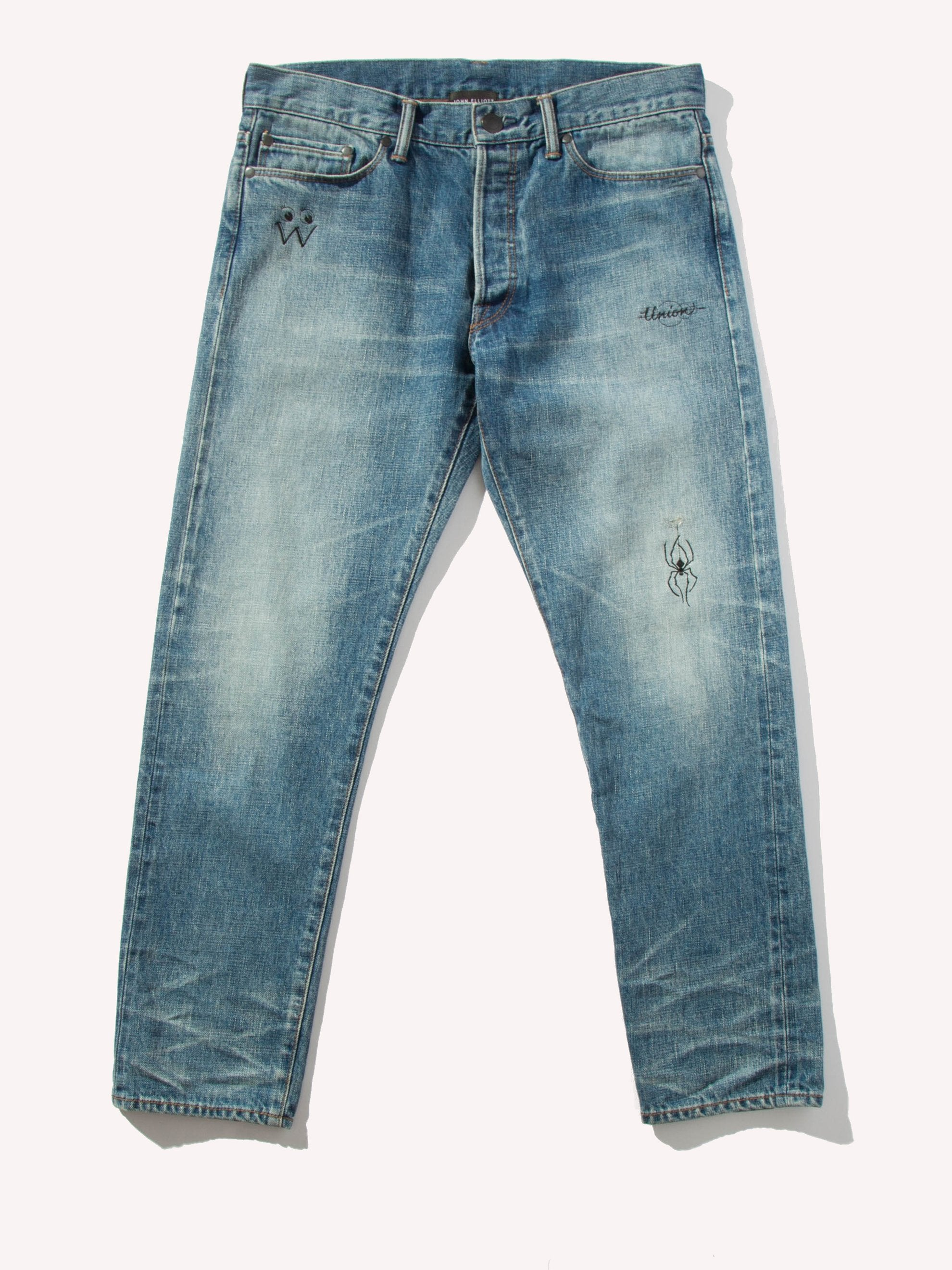 Cropped Denim Jeans (John Elliott x Dr. Woo UNION Capsule)