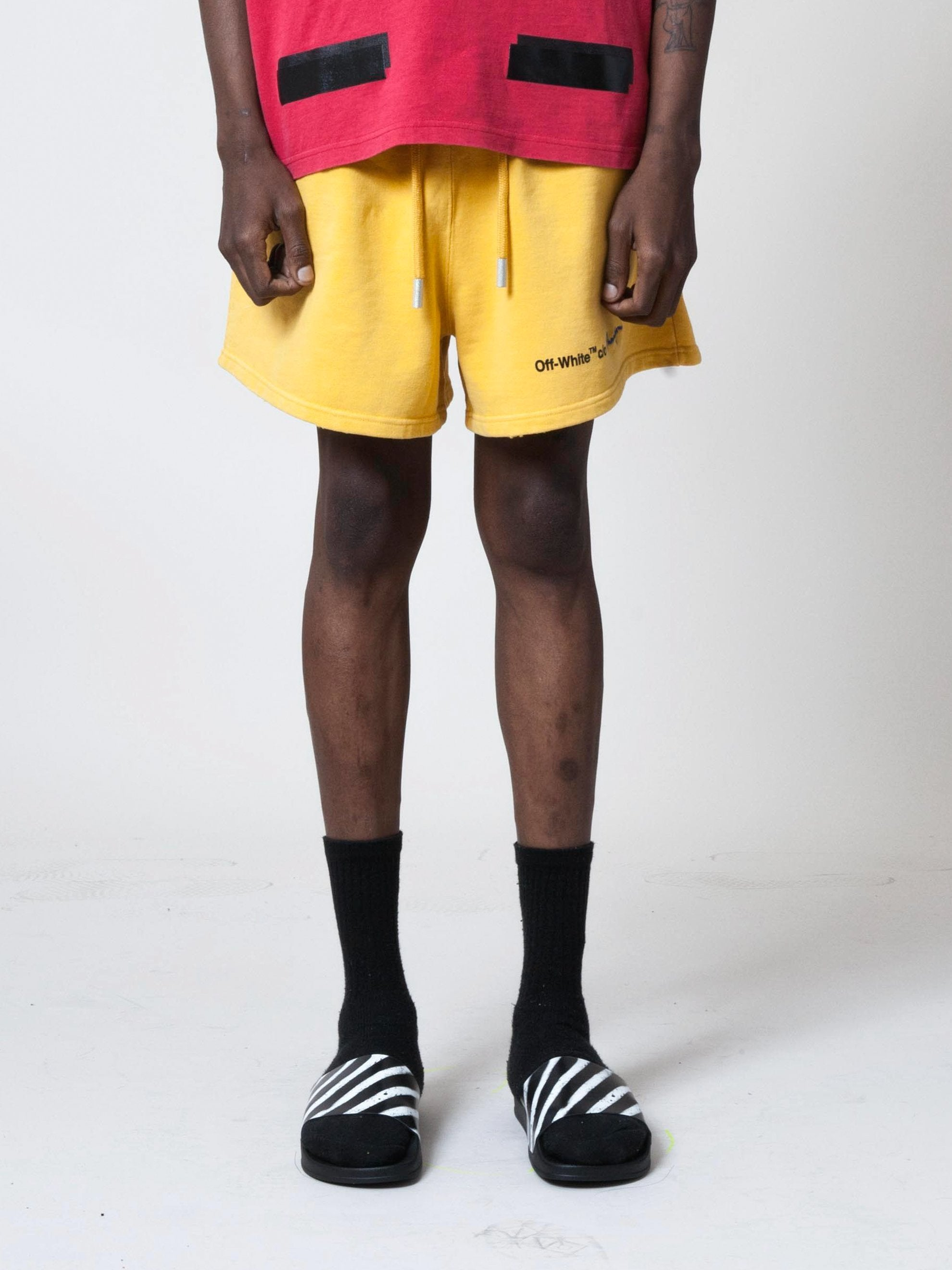 Yellow/Black Champion Shorts 4