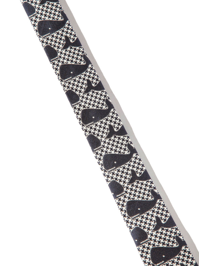 Navy Classic Necktie Silk Jacquard (Whale Houndstooth) 320033944777