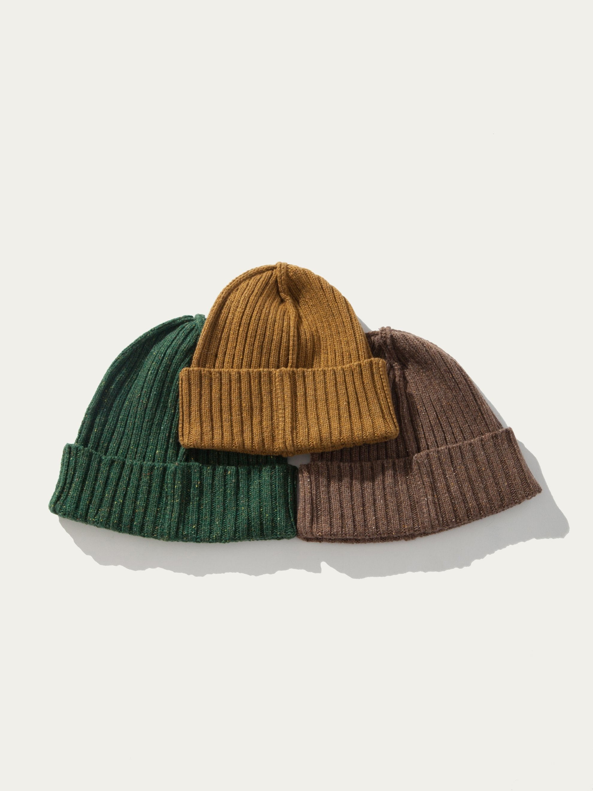 Green ABOVE THE TOWER Wool Beanie 1
