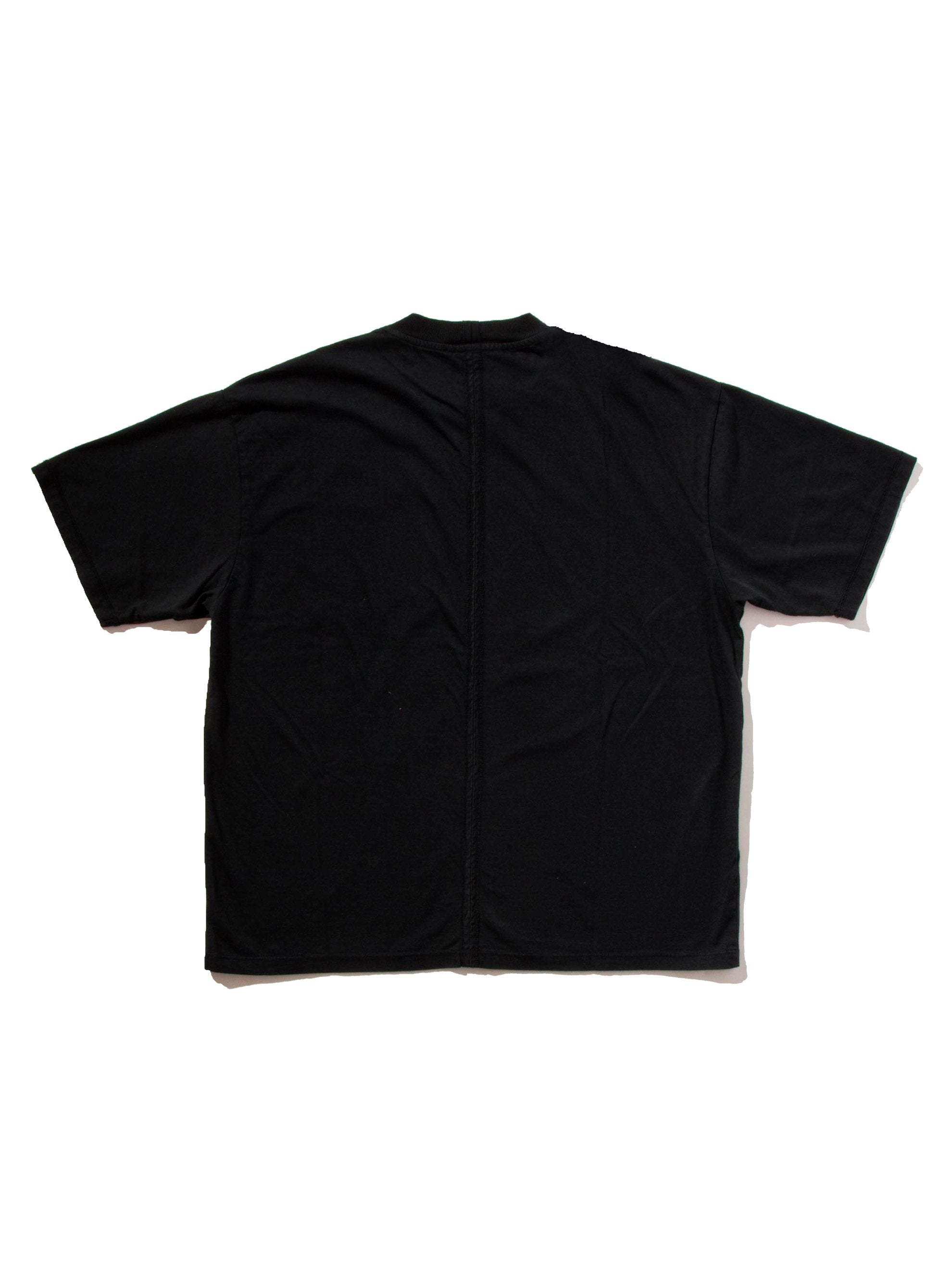 Black Jersey Cuts T-Shirt (Patch) 5
