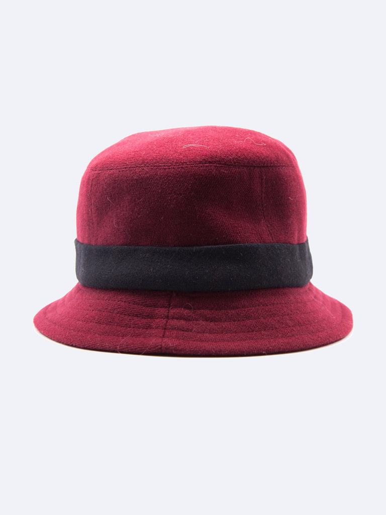 Burgundy ABOVE THE TOWER Bucket Hat 5532917714953