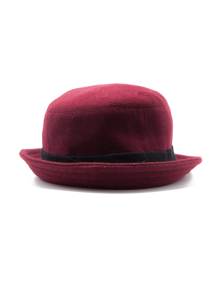 Burgundy ABOVE THE TOWER Bucket Hat 4535312957449