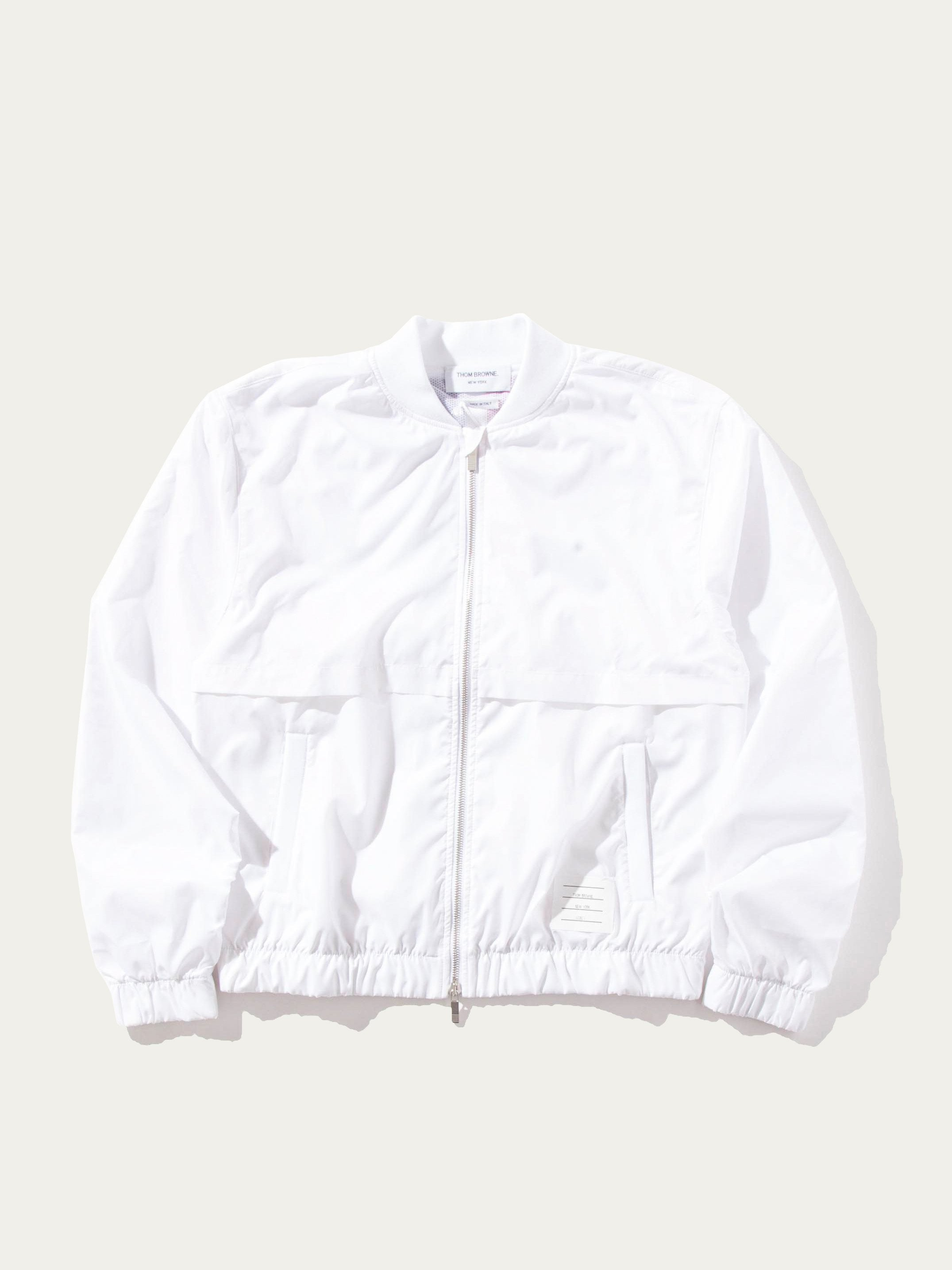 White Bomber with Vents and Mesh (CB Stripe in Ripstop) 1