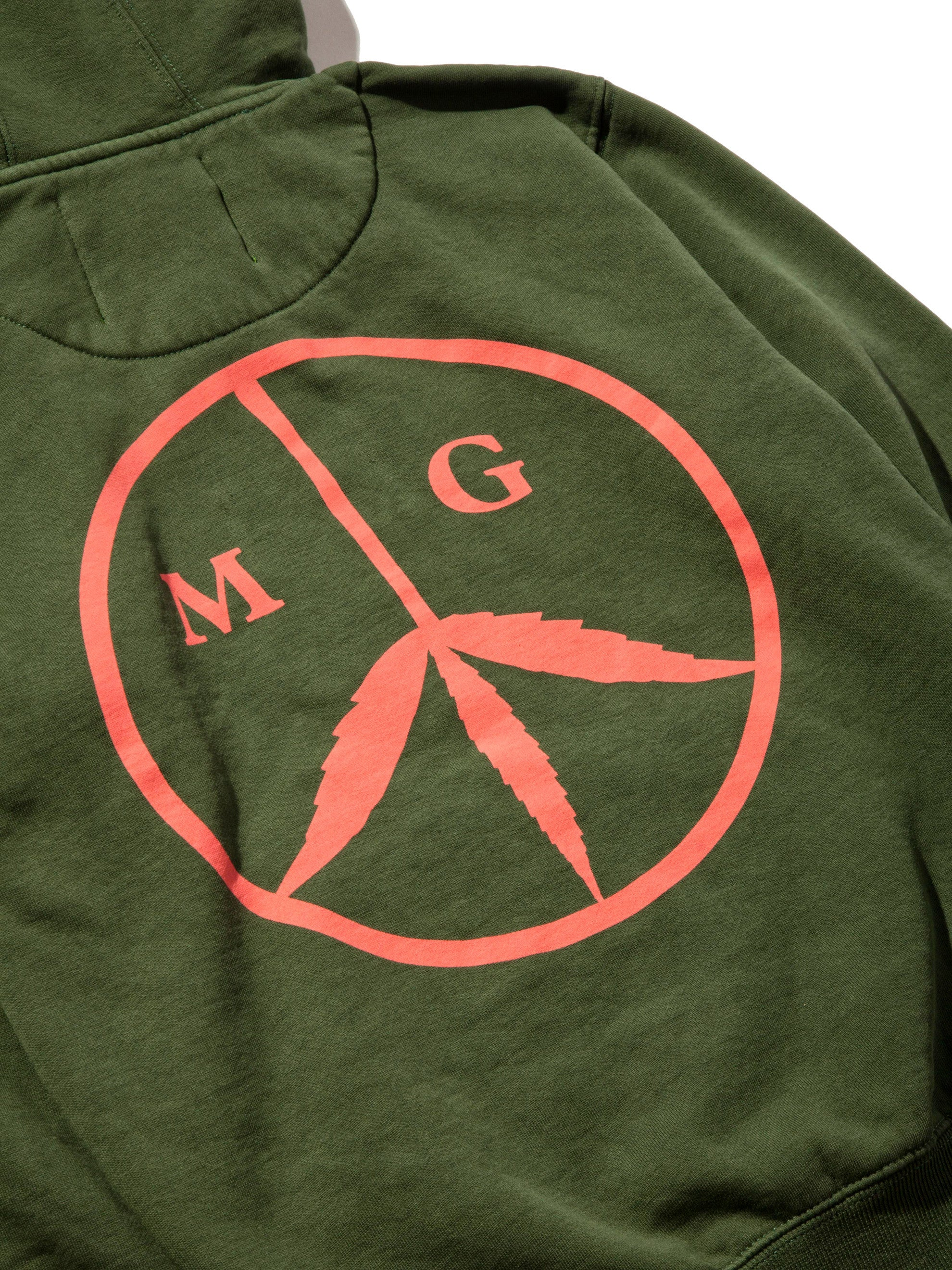 Forest Green Peace Hooded Sweatshirt 6
