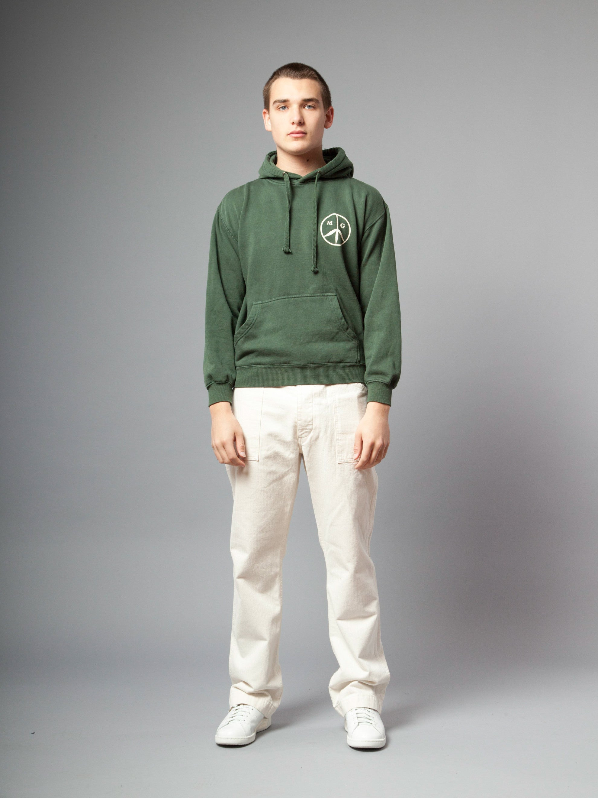 Forest Green Peace Hooded Sweatshirt 2