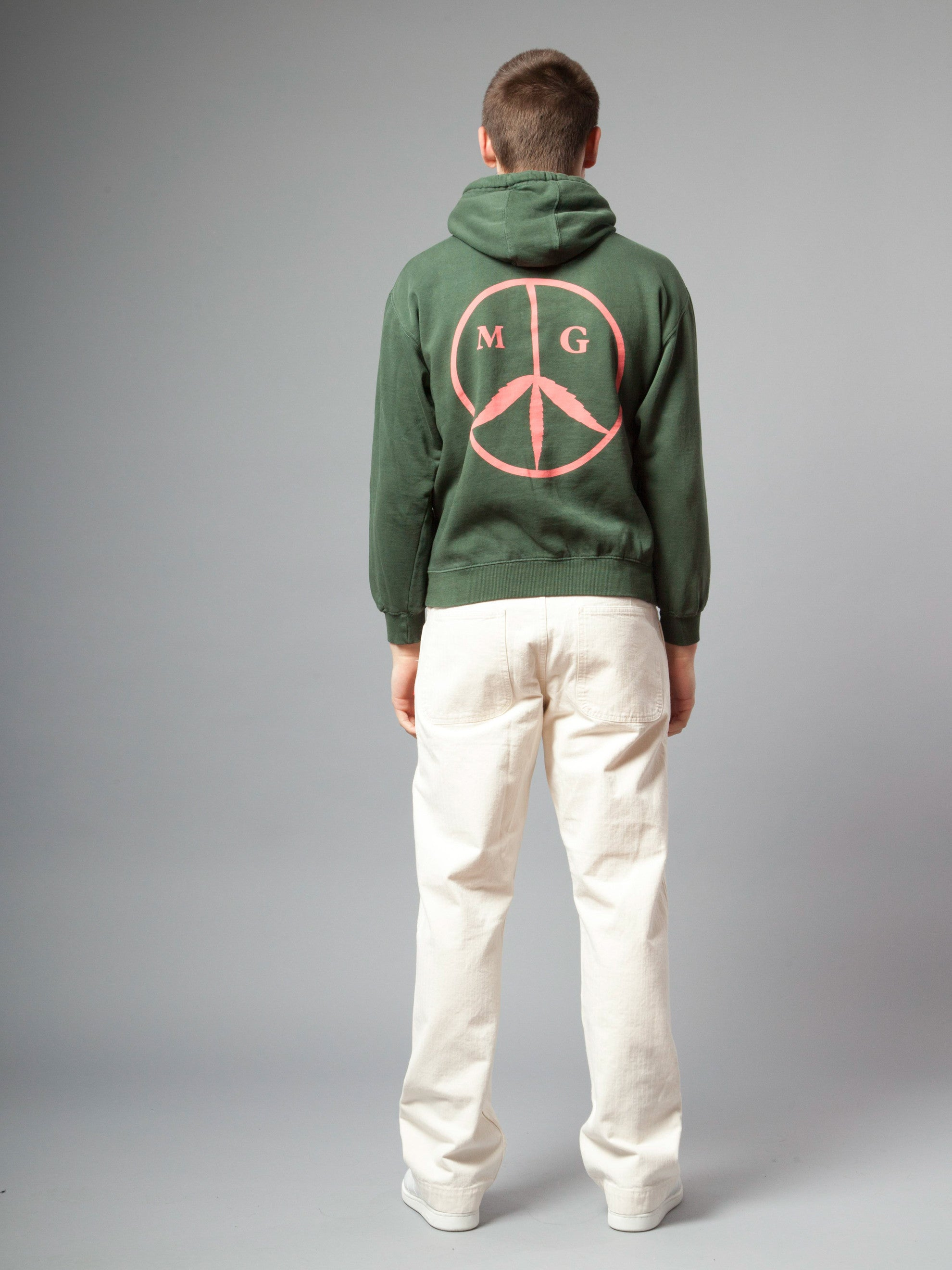Forest Green Peace Hooded Sweatshirt 3