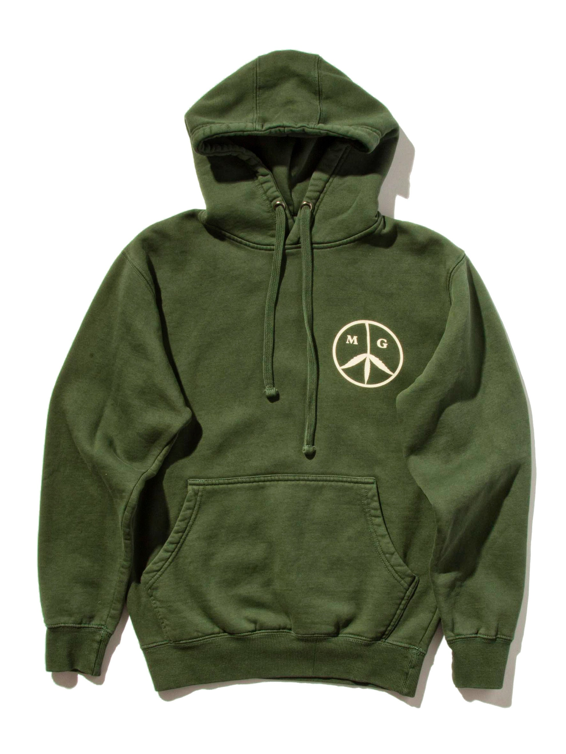Forest Green Peace Hooded Sweatshirt 4