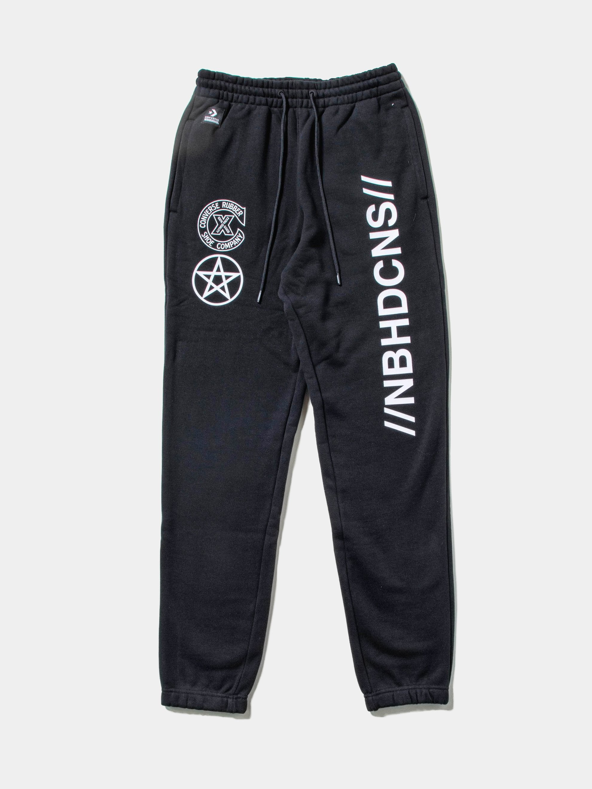 Black Converse x Neighborhood Sweatpant 1