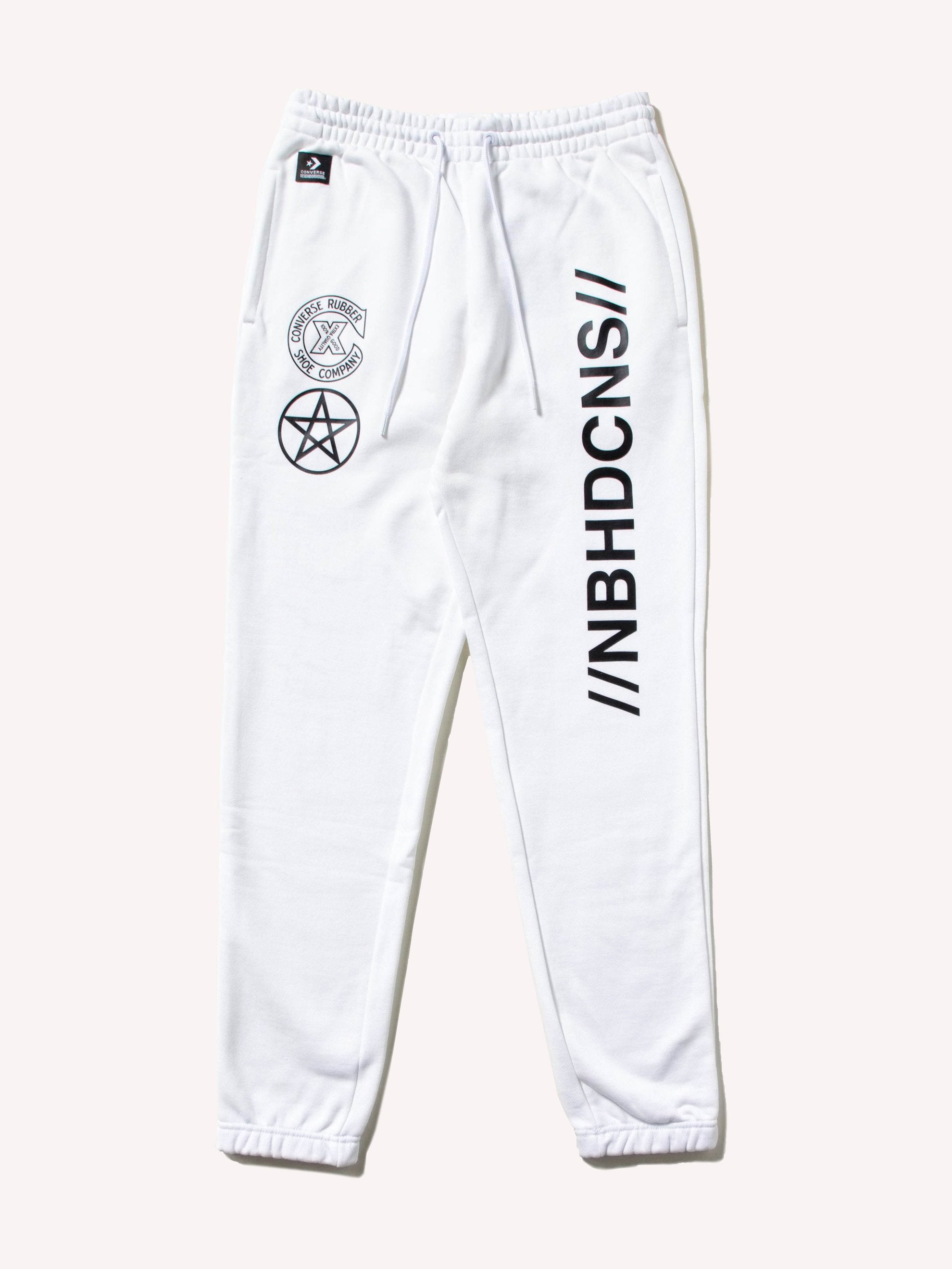 White Converse x Neighborhood Sweatpant 1