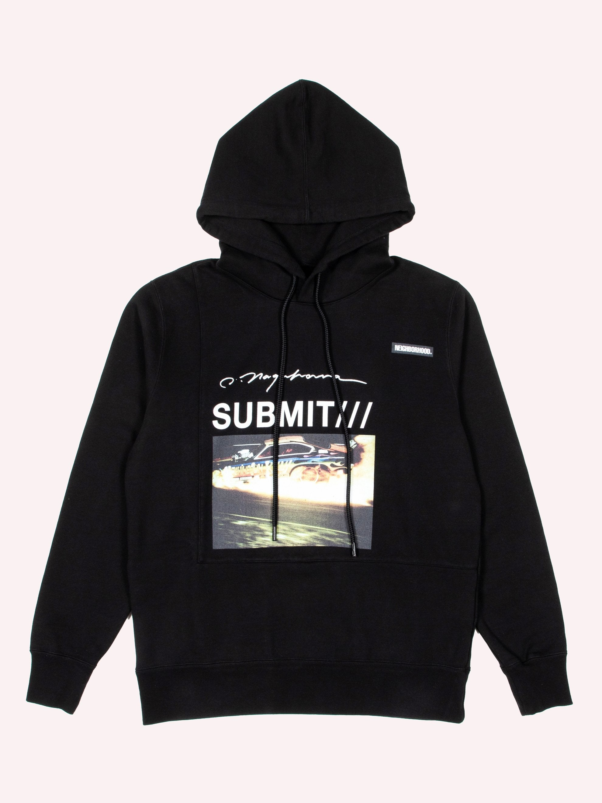Black NHON . Submit / C-Hooded . LS 1