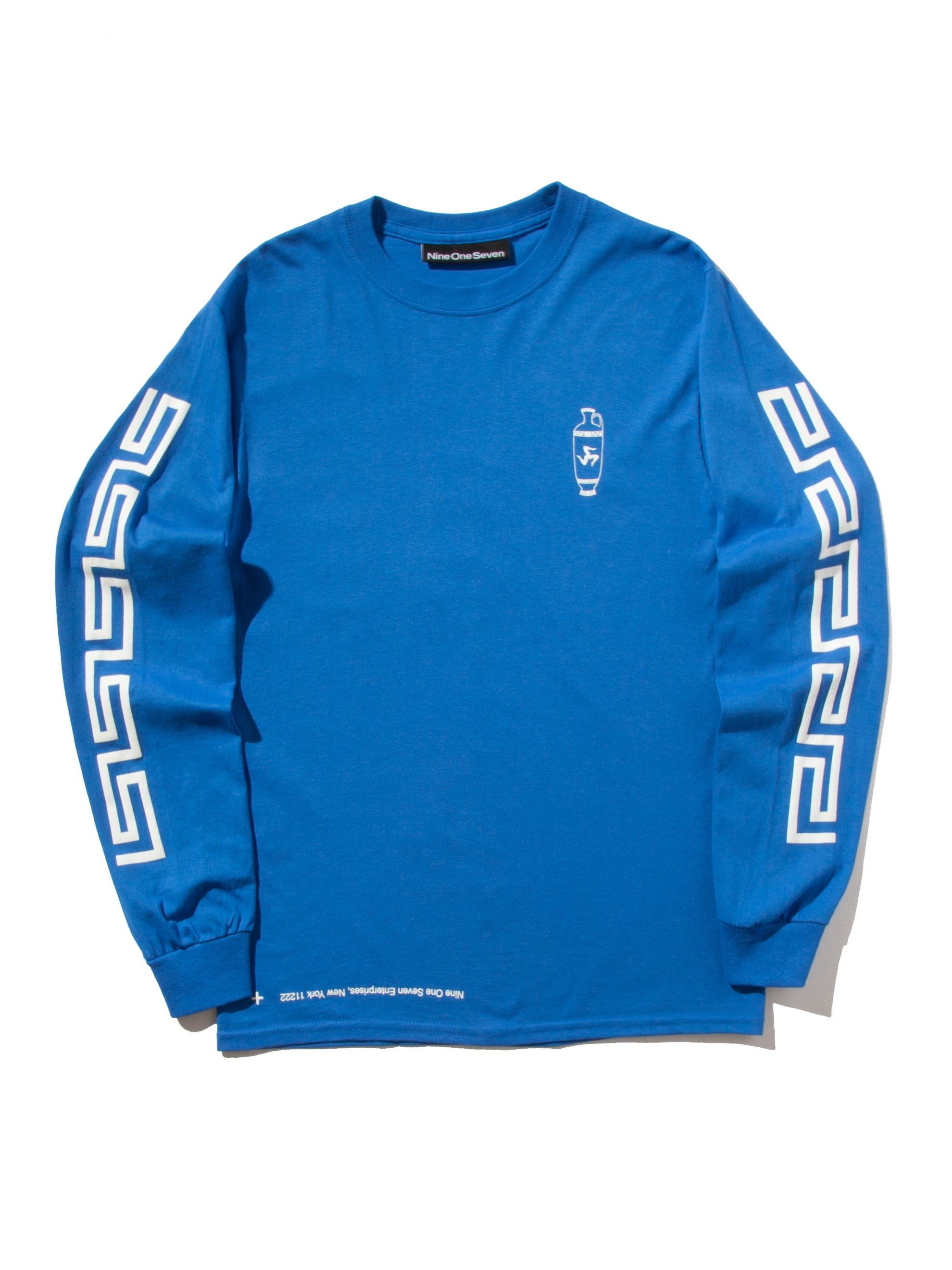 Blue Coffee Long Sleeve T-Shirt 5