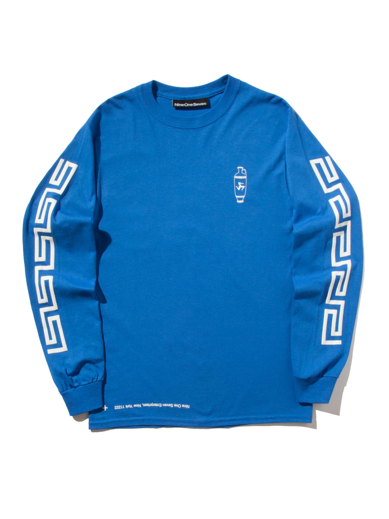 Blue Coffee Long Sleeve T-Shirt 520014376777