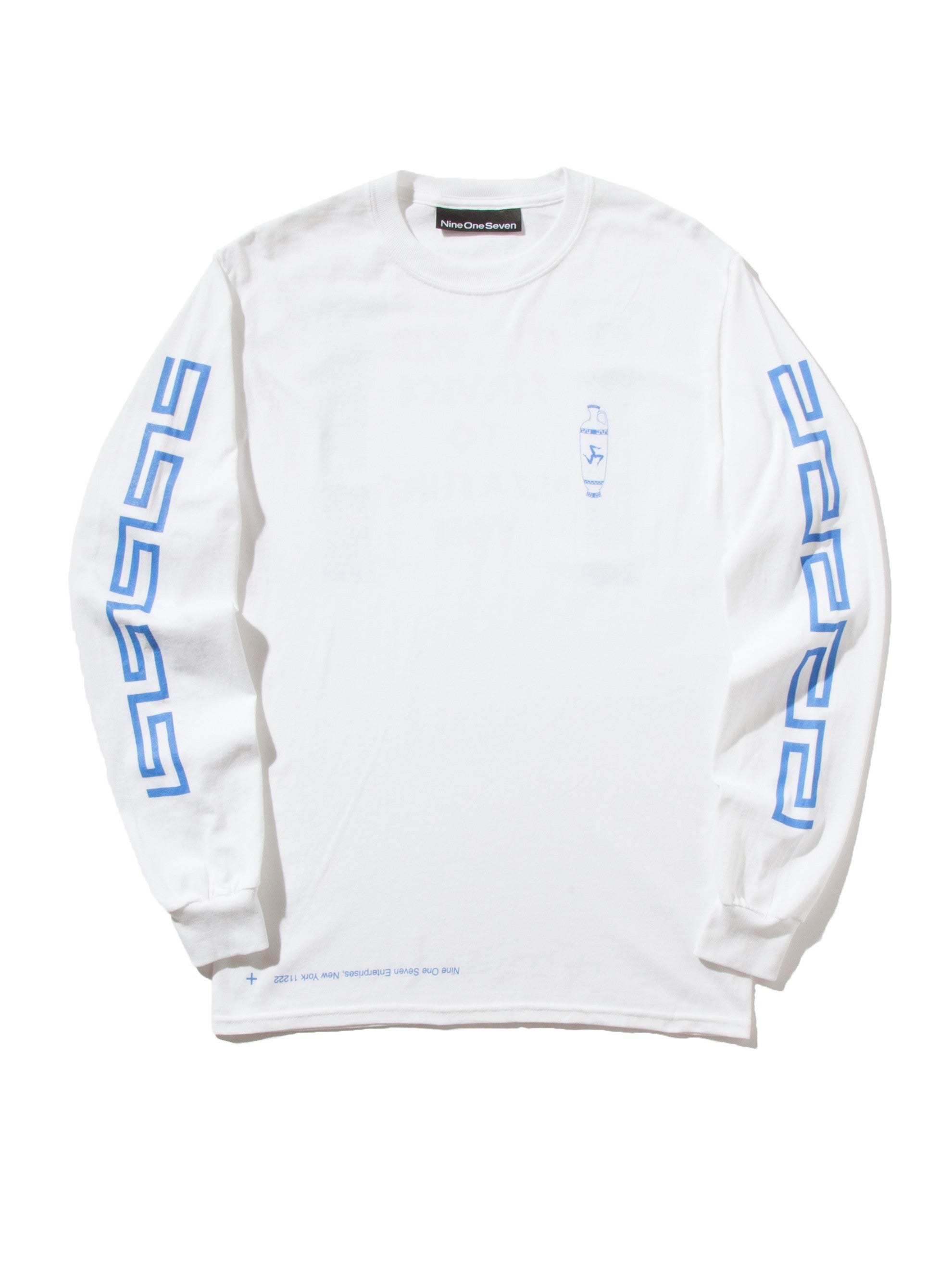 Blue Coffee Long Sleeve T-Shirt 12