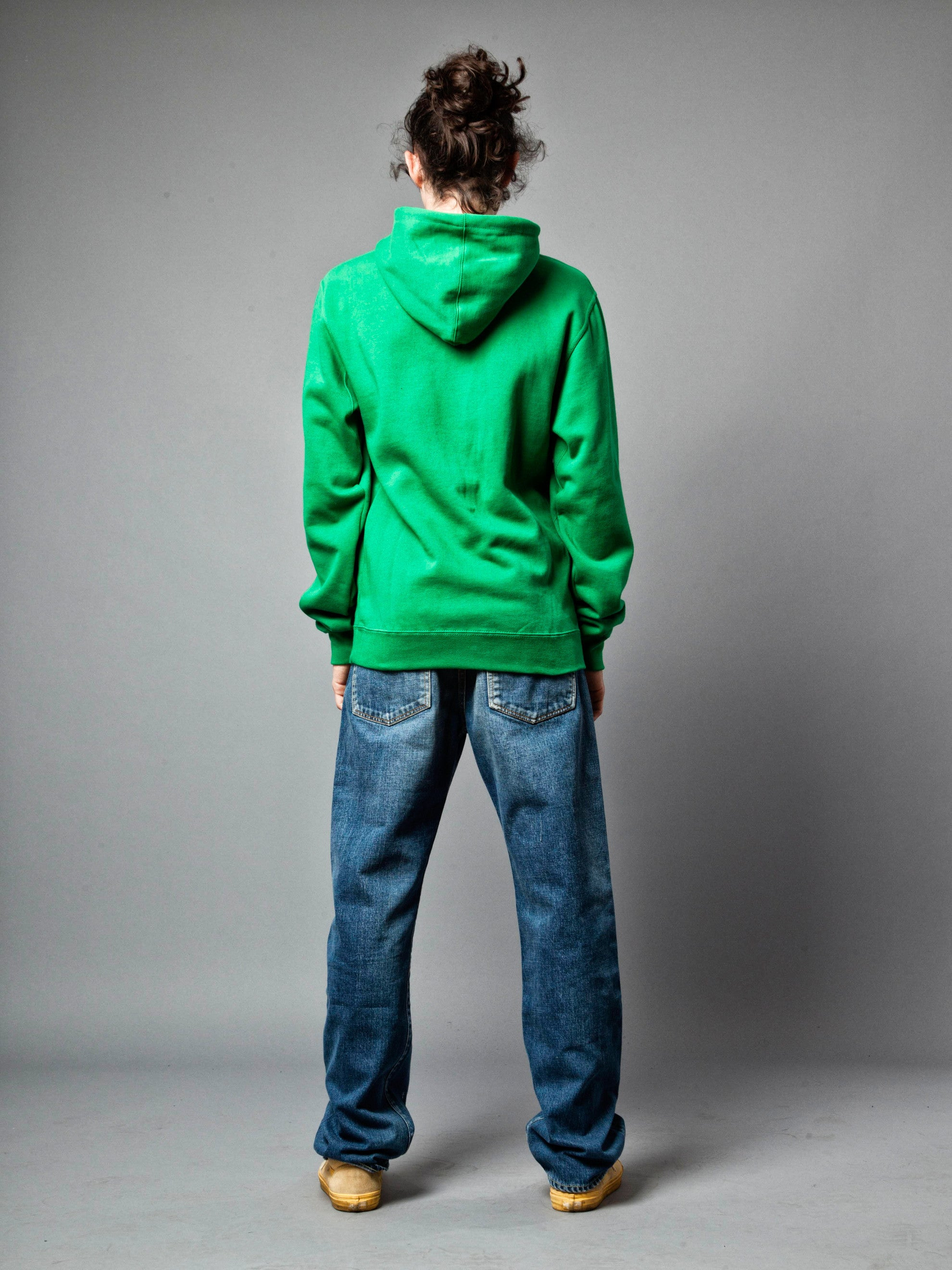 Green Meet Meat Pullover Hooded Sweatshirt 4