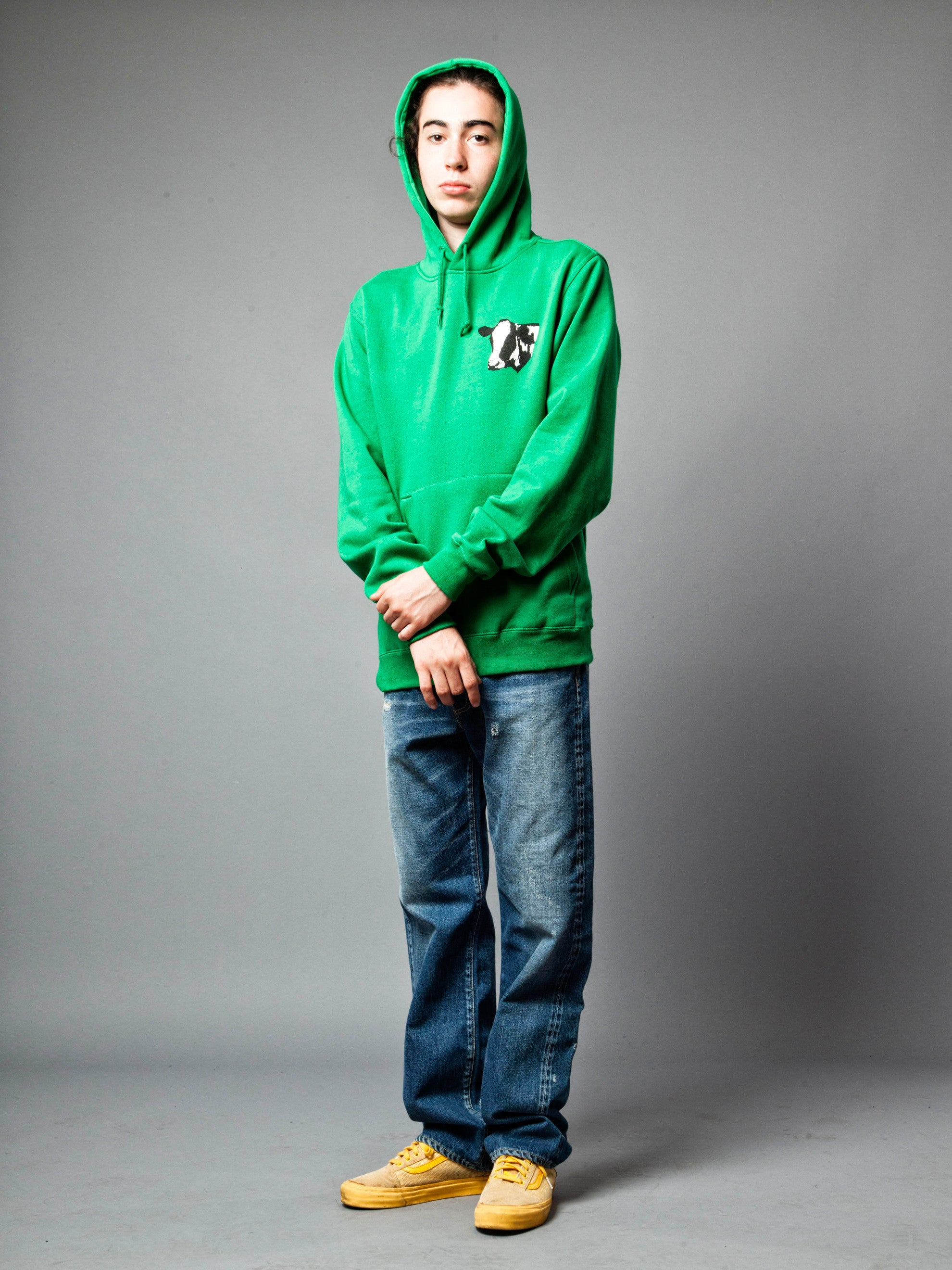 Green Meet Meat Pullover Hooded Sweatshirt 3