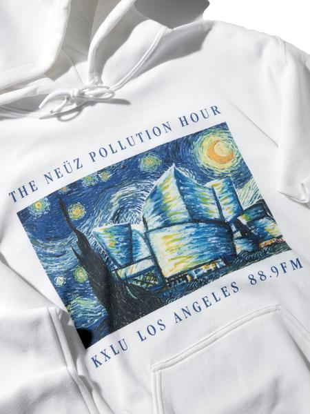 White Neuz Pollution Hooded Sweatshirt 4