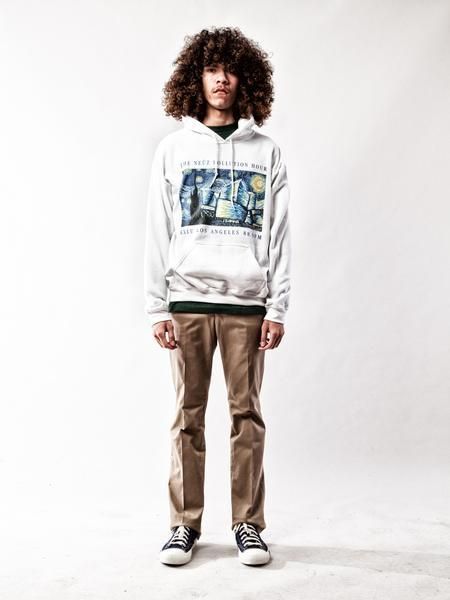White Neuz Pollution Hooded Sweatshirt 2