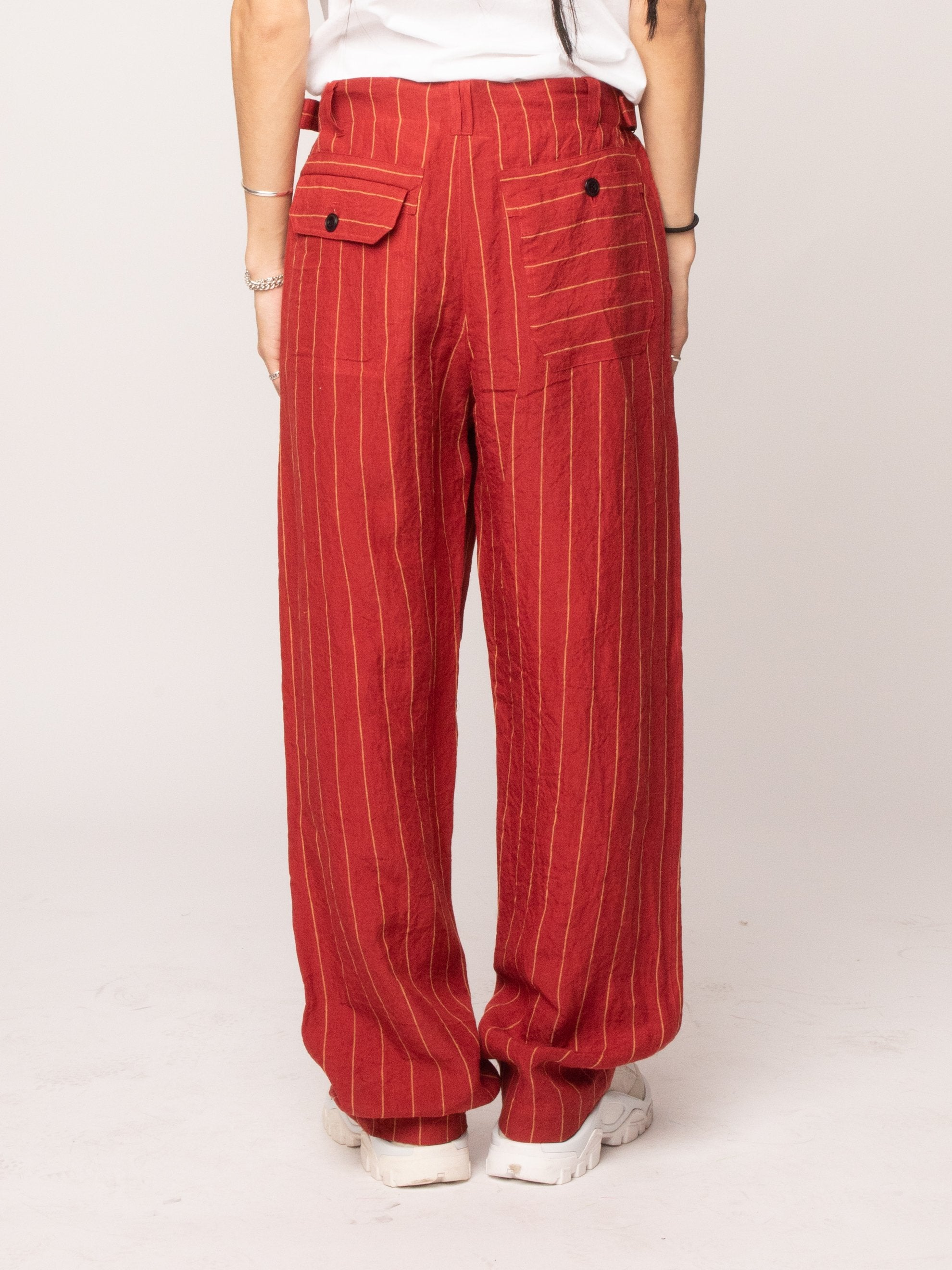 Red 70's Trouser 5