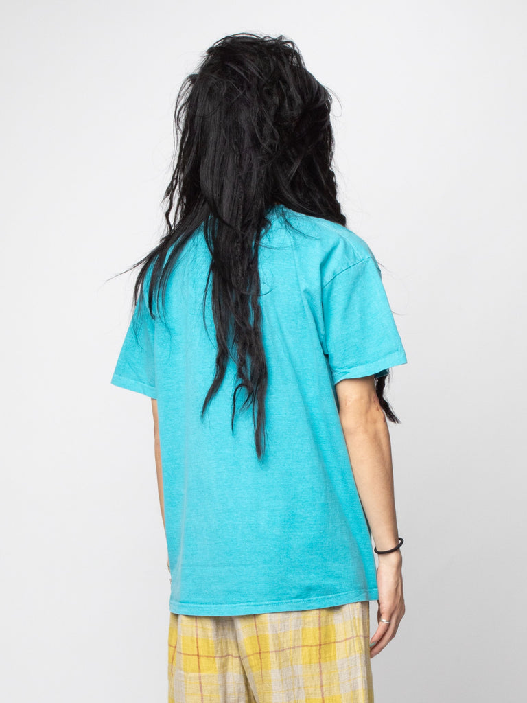 Turquoise Astro Black Garment Dyed T-Shirt 514286804090957