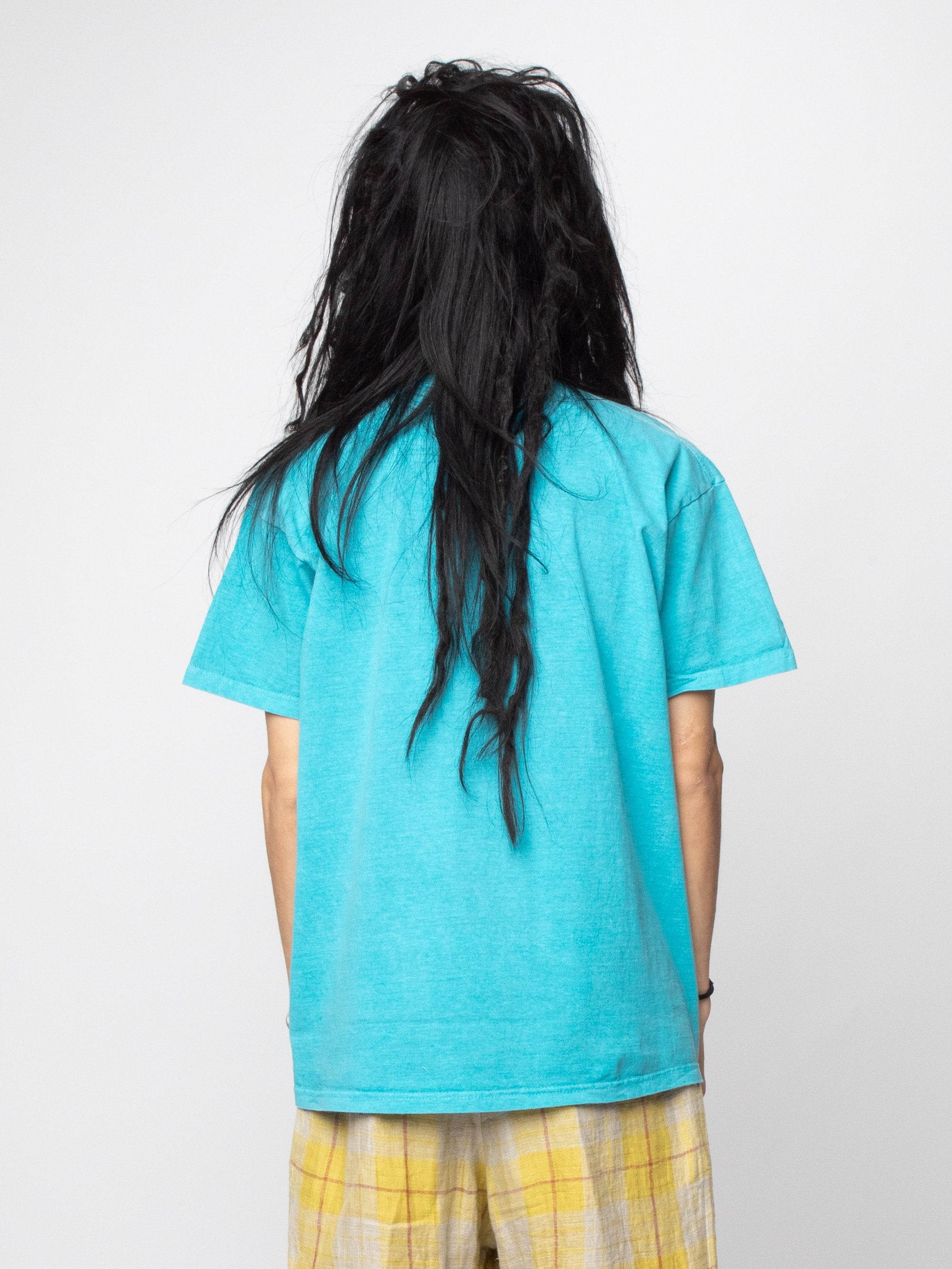 Turquoise Astro Black Garment Dyed T-Shirt 6