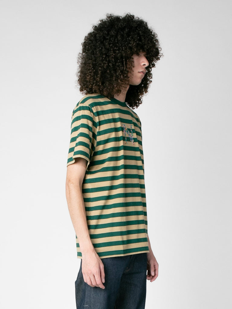 Green Combo Bouquet Stripe Top 413570306113613