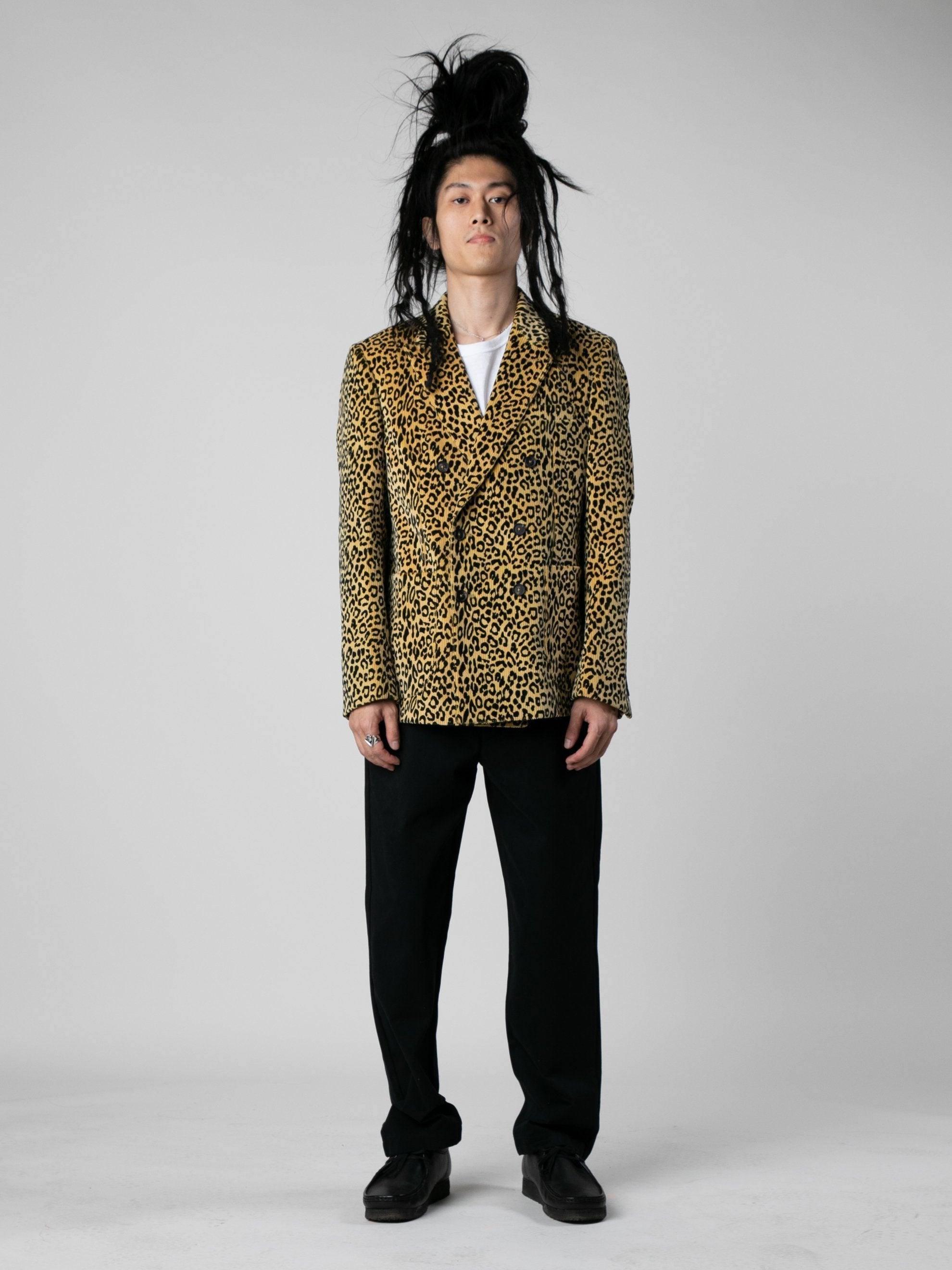 Leopard Leopard Corduroy Double Breasted Sport Coat 3