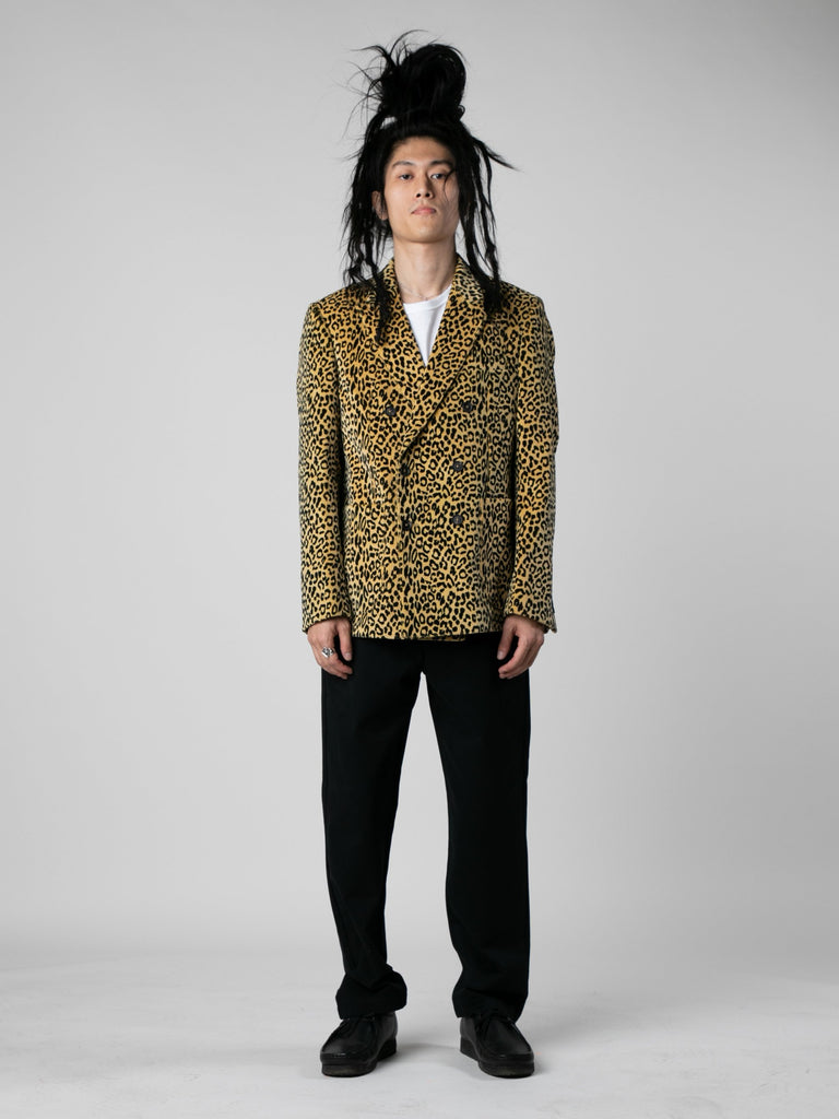 Leopard Leopard Corduroy Double Breasted Sport Coat 313569966145613