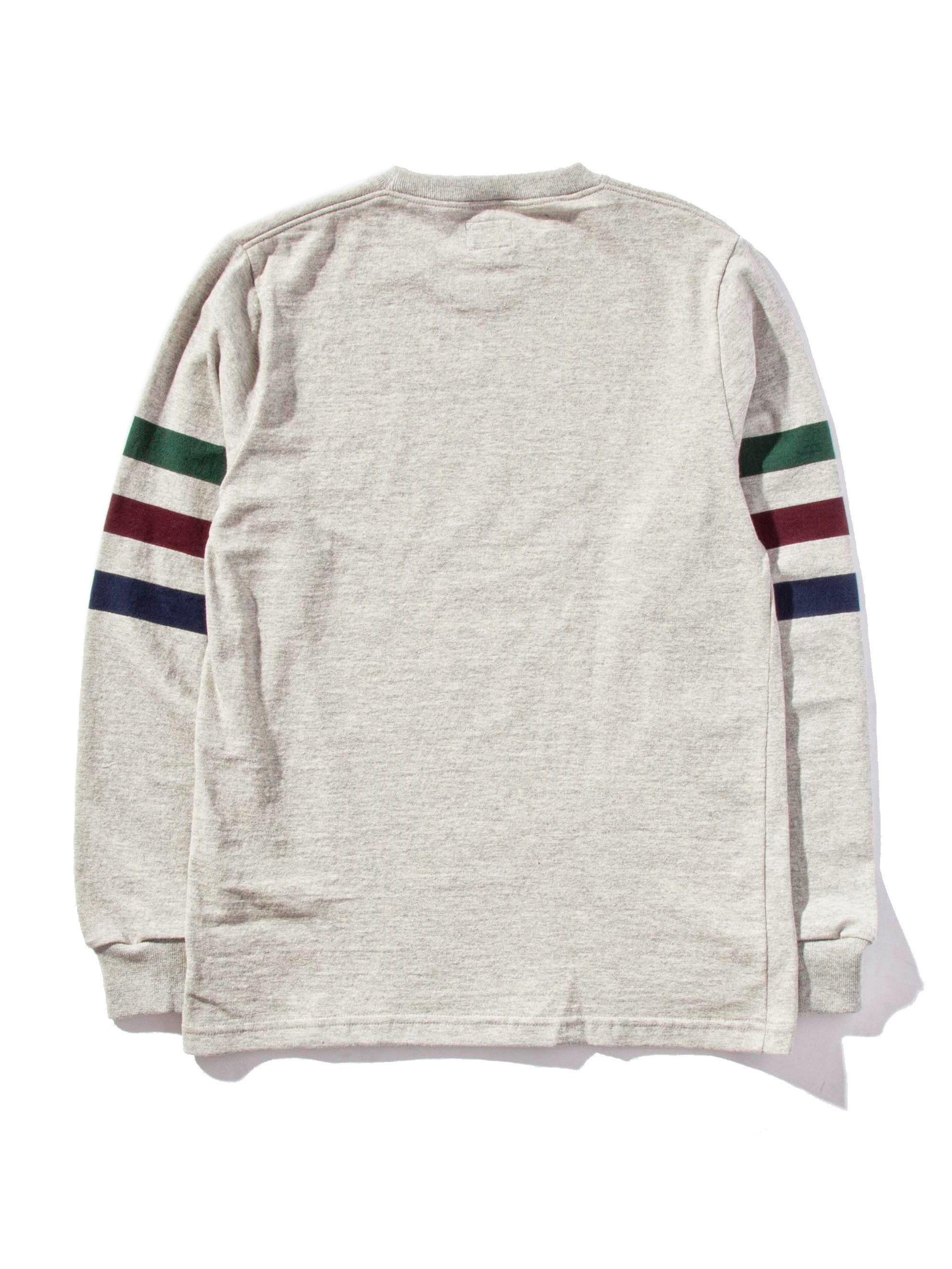 Ash Triple Stripe Long Sleeve T-Shirt 6
