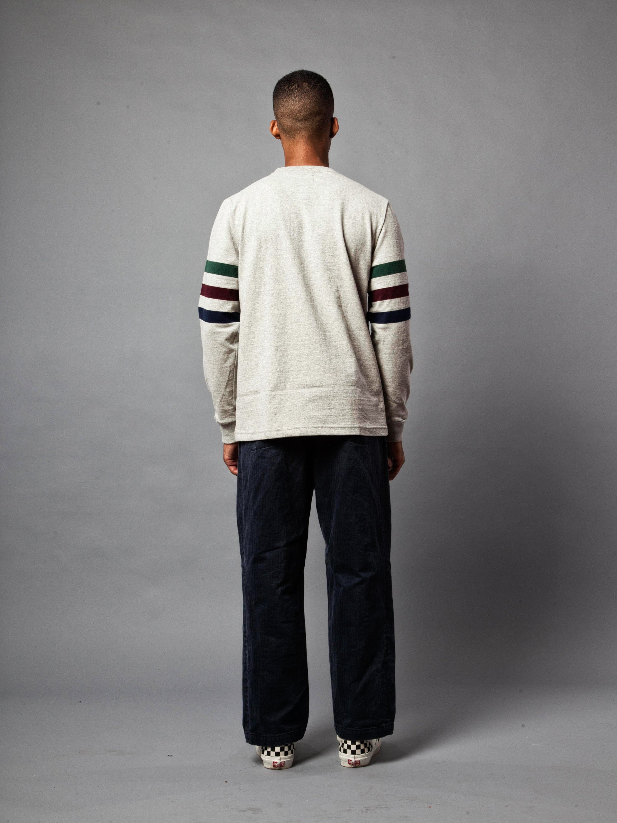 Ash Triple Stripe Long Sleeve T-Shirt 5