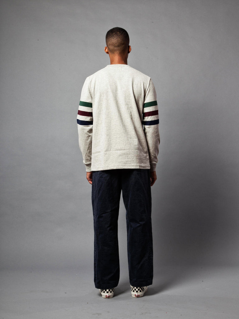 Ash Triple Stripe Long Sleeve T-Shirt 520818376137