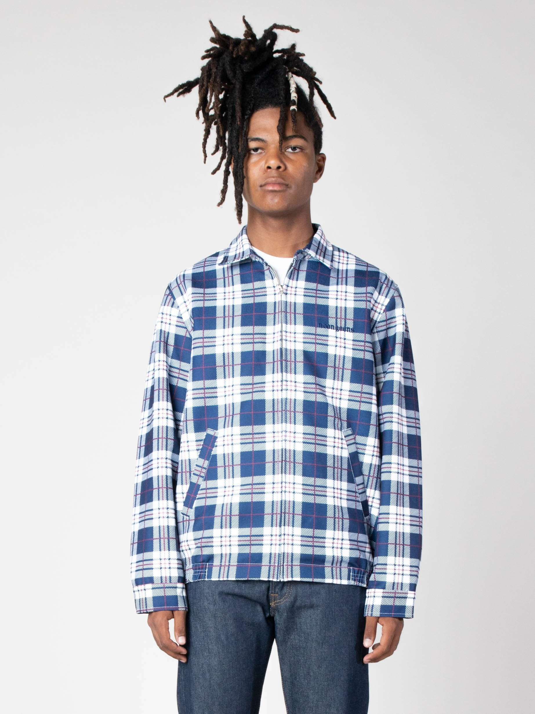Navy/White Picture Perfect Tartan Jacket 2