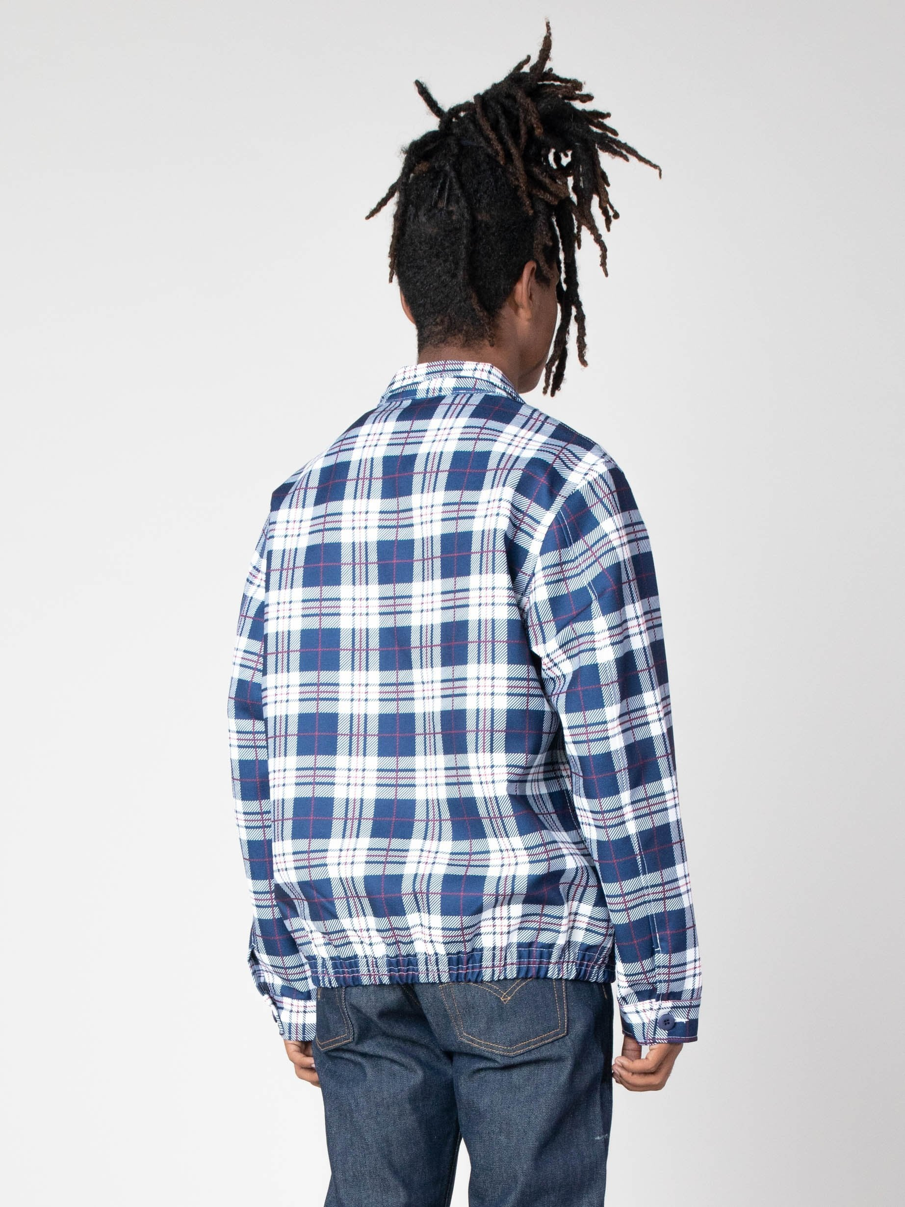 Navy/White Picture Perfect Tartan Jacket 5
