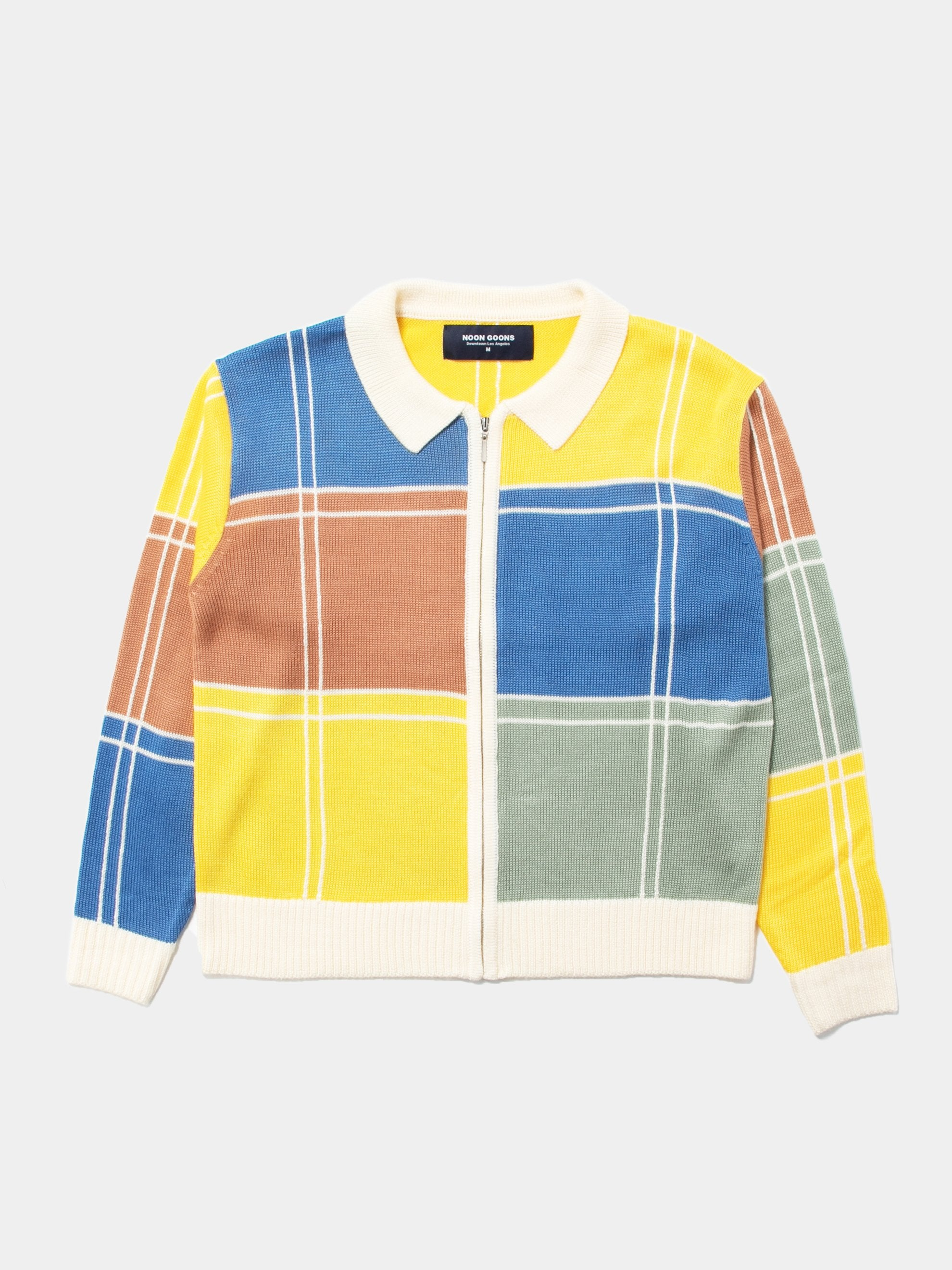 Colorblock Colorblock Zip Sweater 1