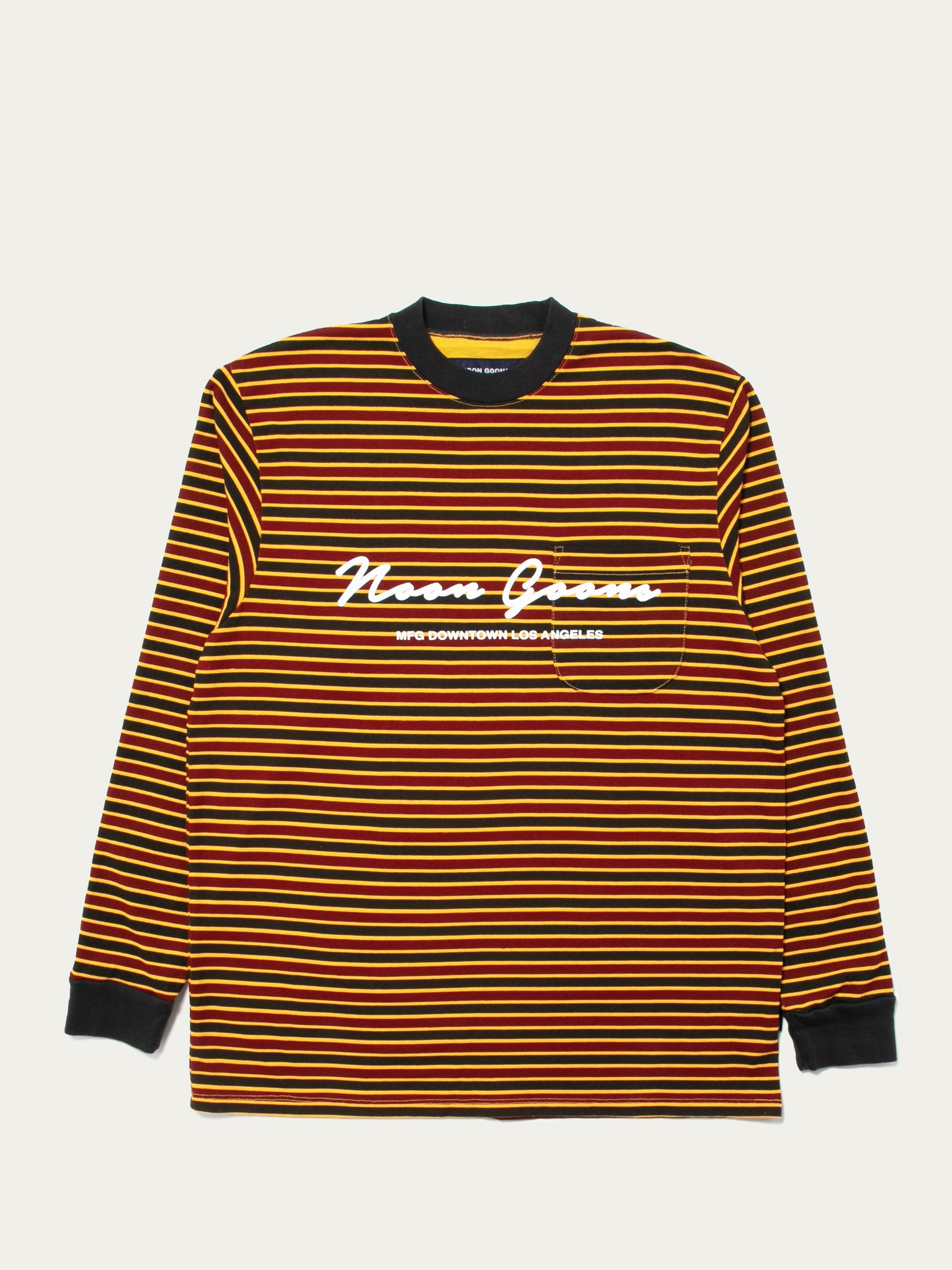 Pale Orange/Burgundy/Black Patricia Stripe LS T-Shirt 1
