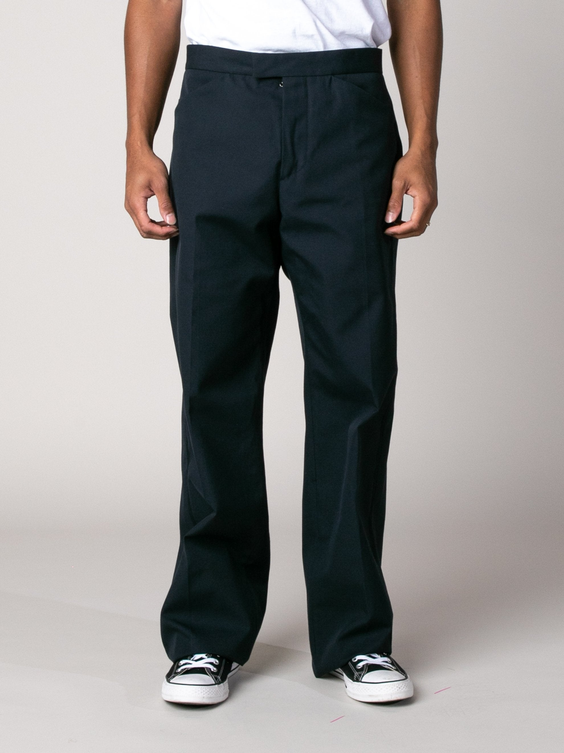 Dark Blue Drawcord Poly Pant 2