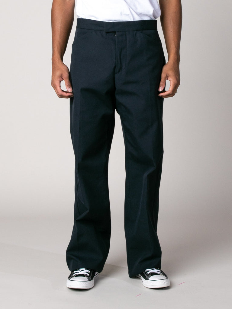 Dark Blue Drawcord Poly Pant 213570198929485