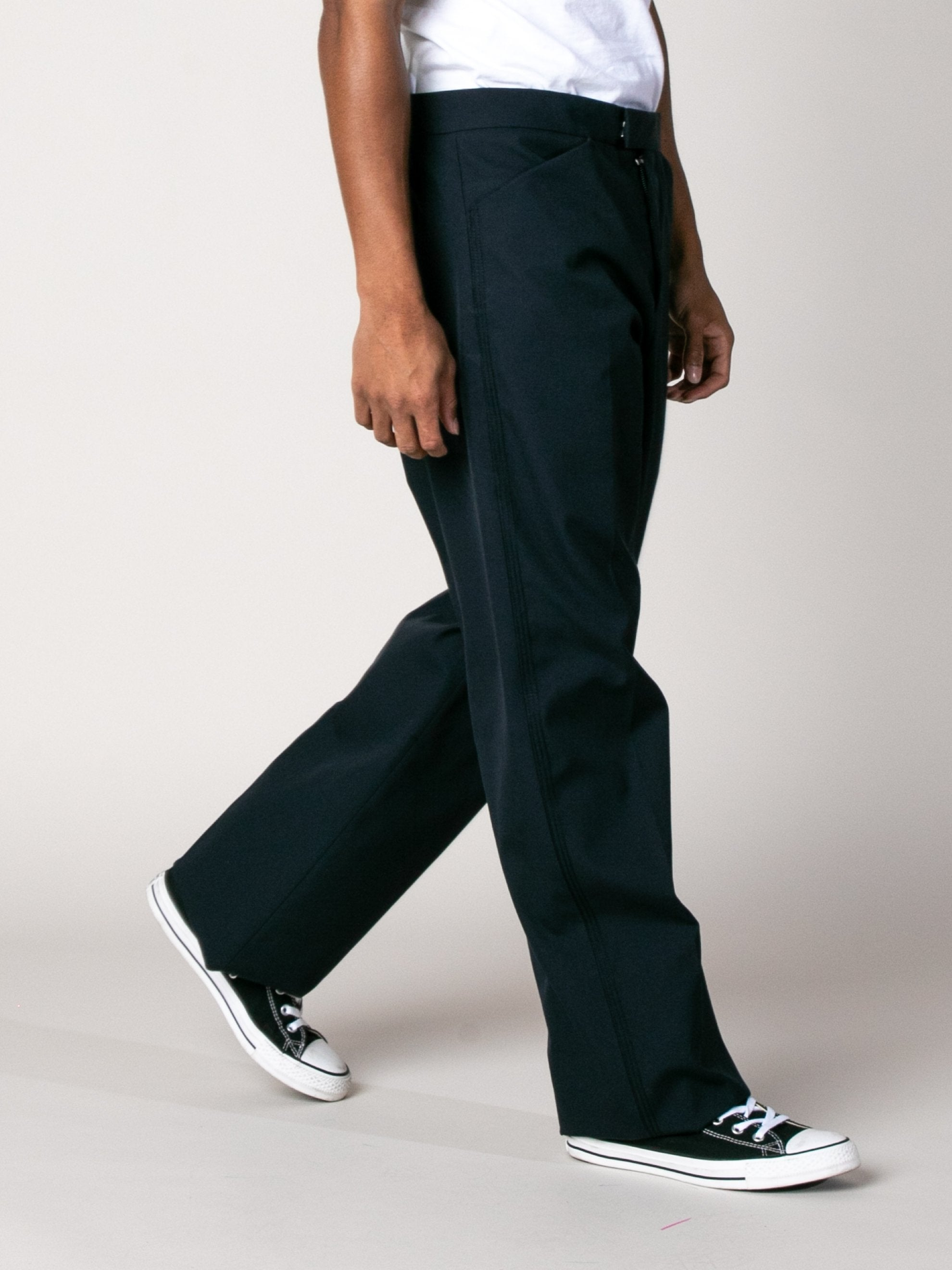 Dark Blue Drawcord Poly Pant 6