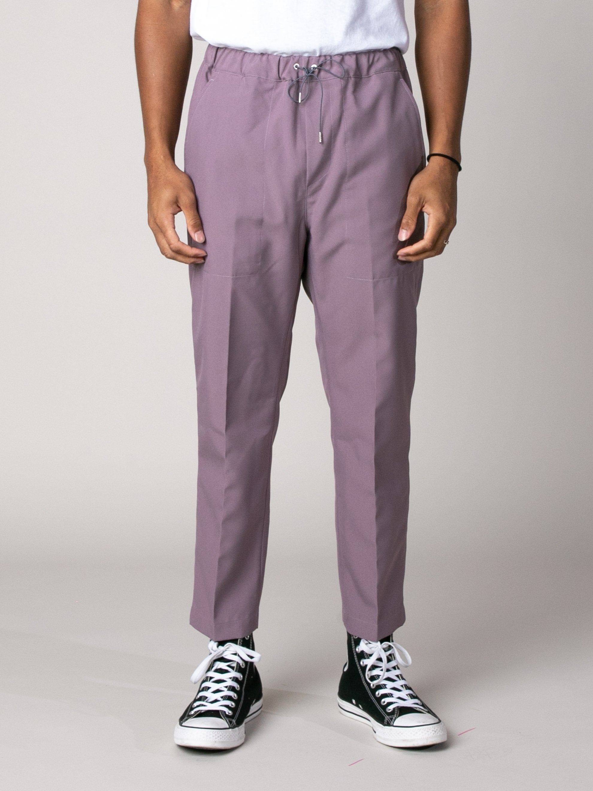 Light/Pastel Red Drawcord Poly Pant 2