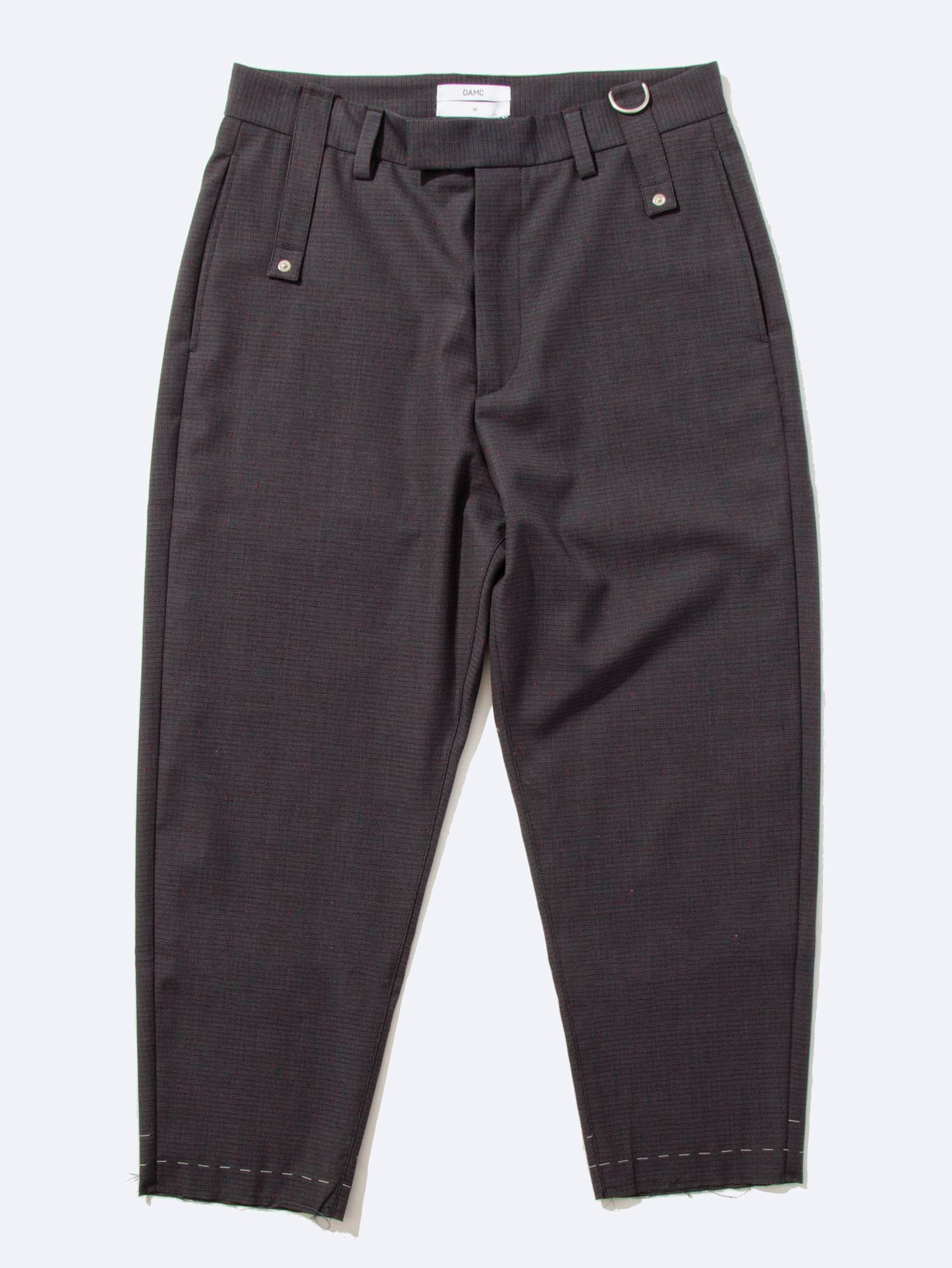 Grey/Red Cropped Drift Pant (Check) 1