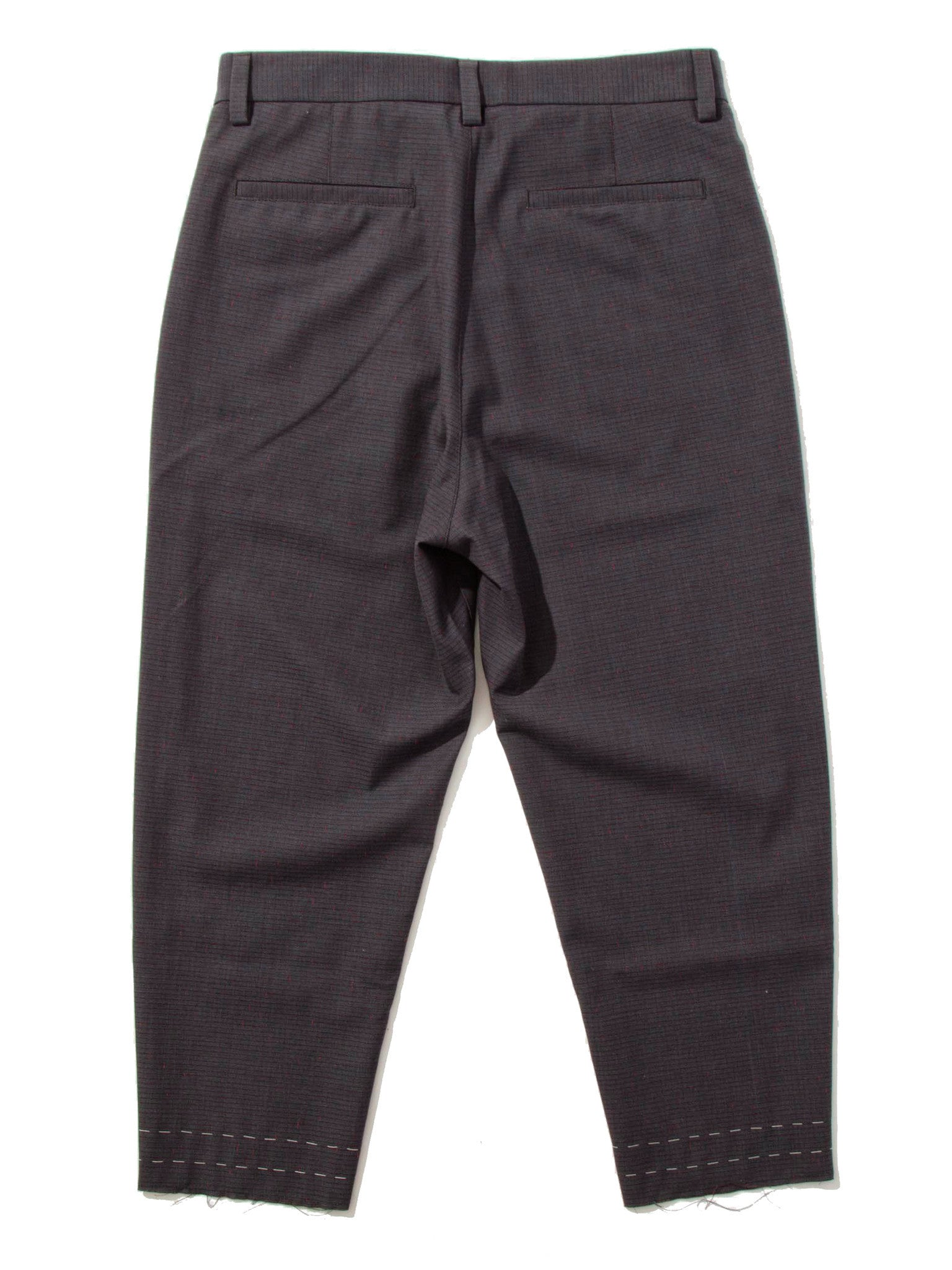 Grey/Red Cropped Drift Pant (Check) 5