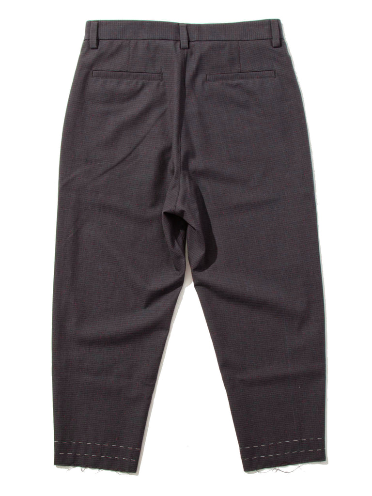 Grey/Red Cropped Drift Pant (Check) 519355357833