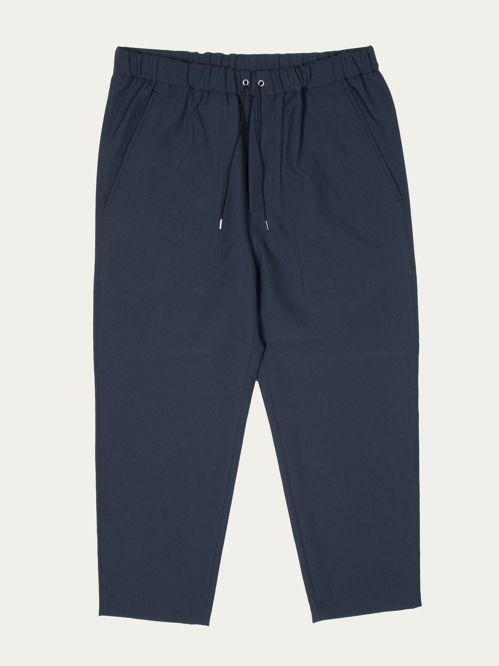 Charcoal Blue Drawcord Pant 1