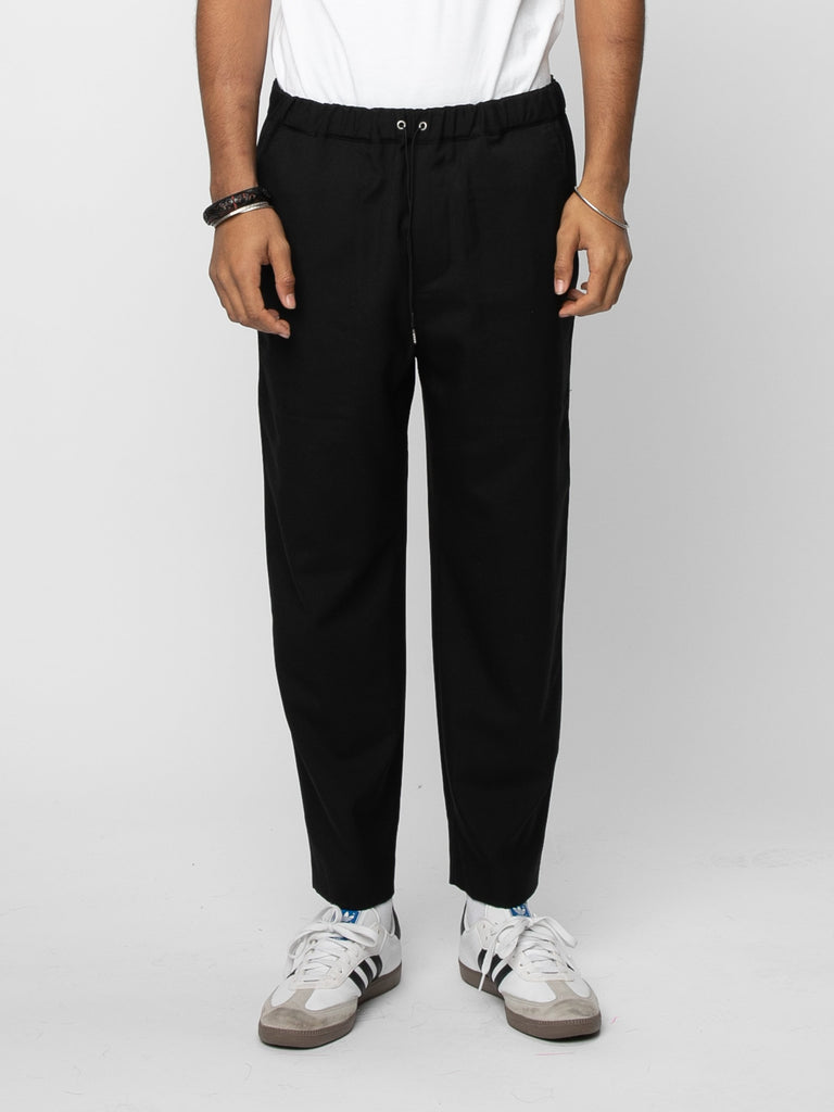 Black Drawcord Pants 214190627553357