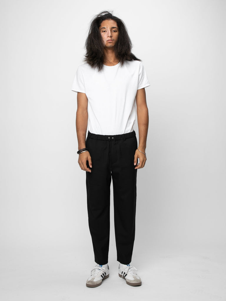 Black Drawcord Pants 314190627586125