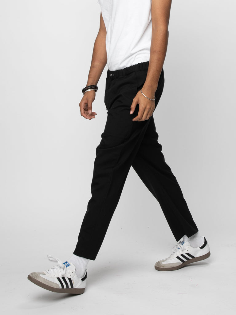 Black Drawcord Pants 614190627815501