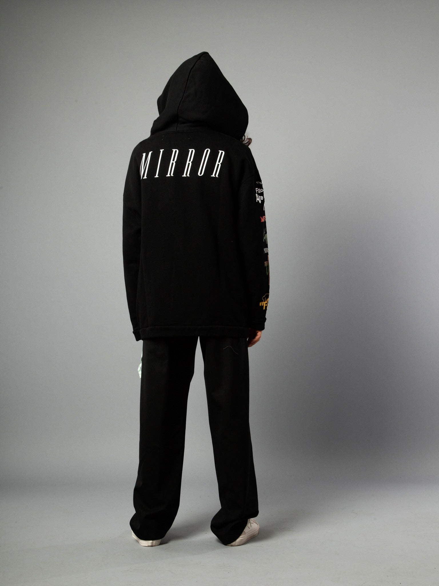 Black Mix Rock Hooded Sweatshirt 5