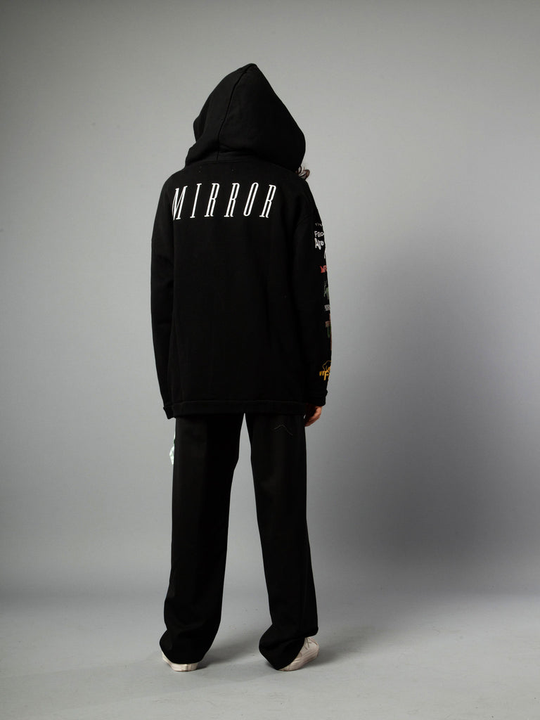 Black Mix Rock Hooded Sweatshirt 519855400521